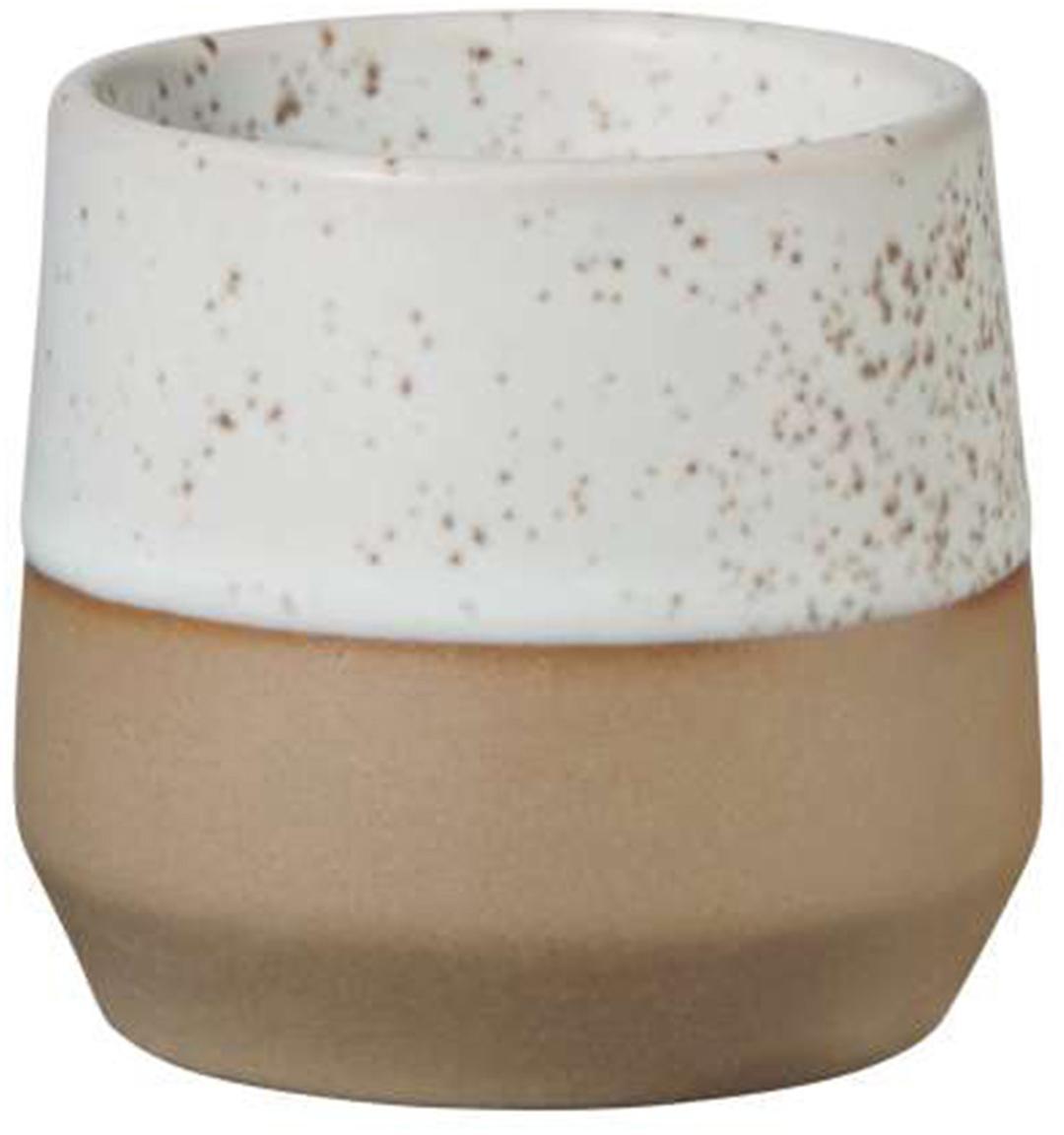 Portauova in tonalità marroni e beige Caja 2 pz, Argilla, Tonalità marroni e tonalità beige, Ø 5 x Alt. 5 cm