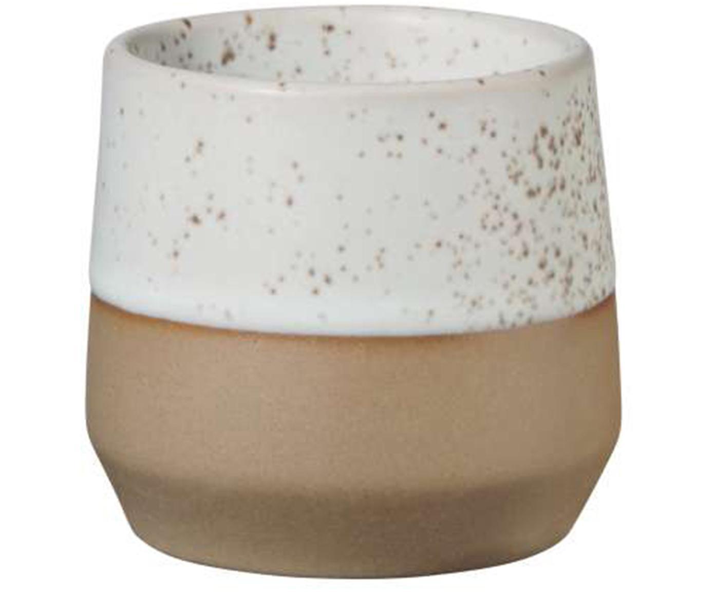 Eierdopjes Caja mat in bruin- en beigetinten, 2 stuks, Klei, Bruin- en beigetinten, Ø 5 x H 5 cm