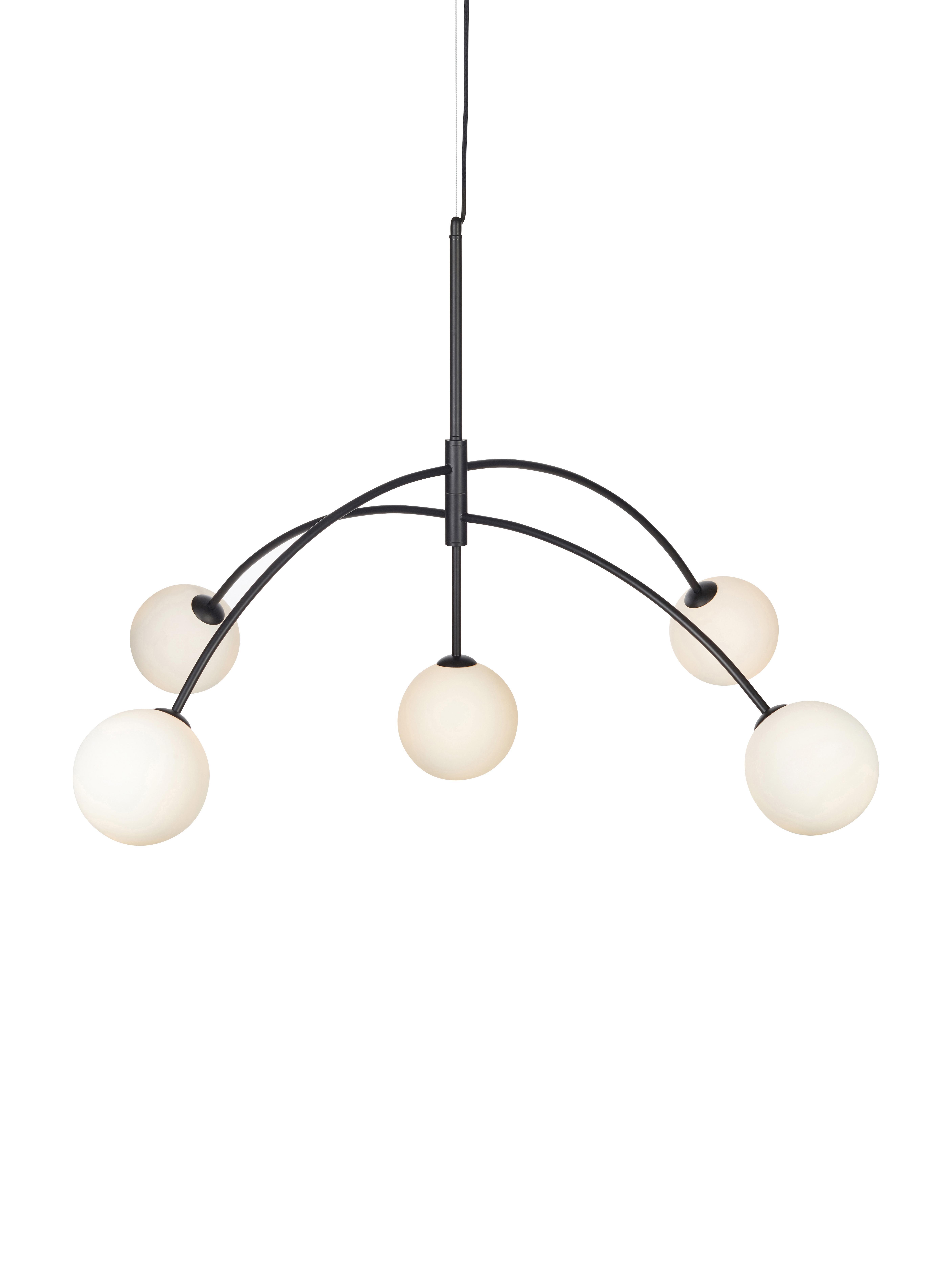 Lámpara de techo Heaven, Cable: plástico, Negro, Ø 117 x Al 66 cm