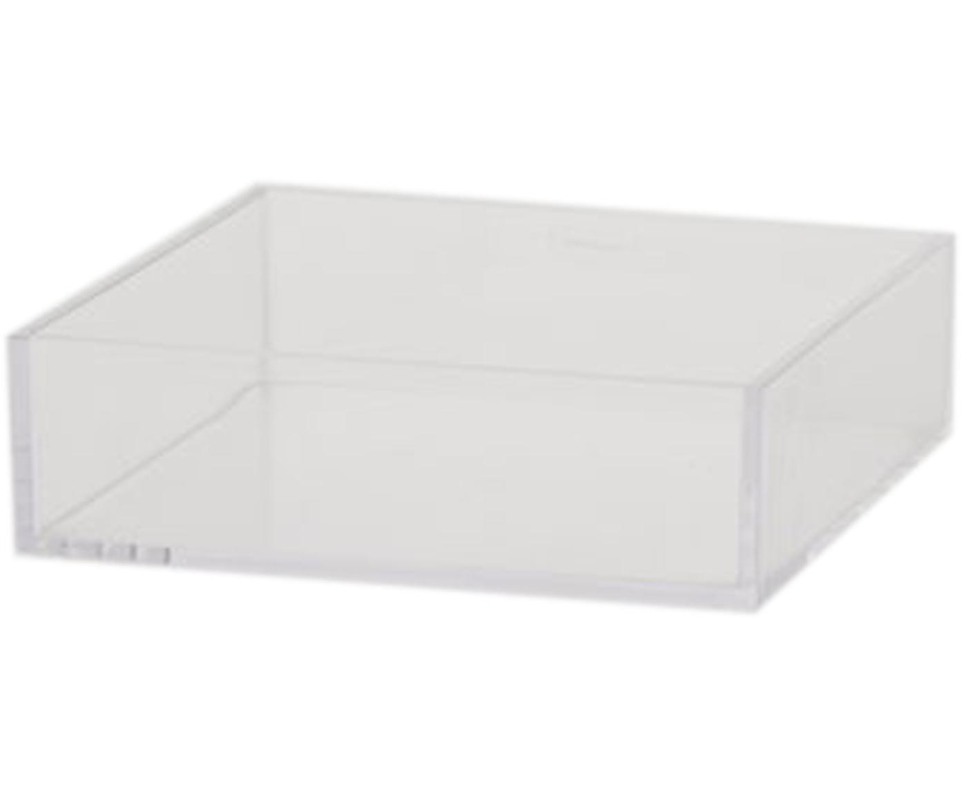 Vassoio Clear, Acrilico, Trasparente, Larg. 16 x Lung. 16 cm
