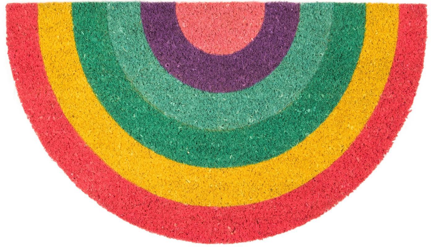 Fussmatte Rainbow, Oberseite: Kokosfaser, Unterseite: PVC, mehrfarbig, 40 x 70 cm