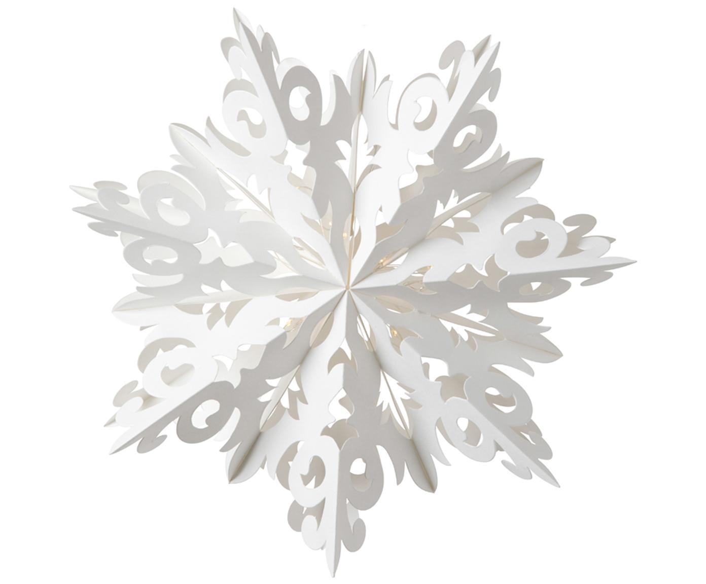 LED Dekoanhänger Abisko, Papier, Weiß, Ø 25 cm