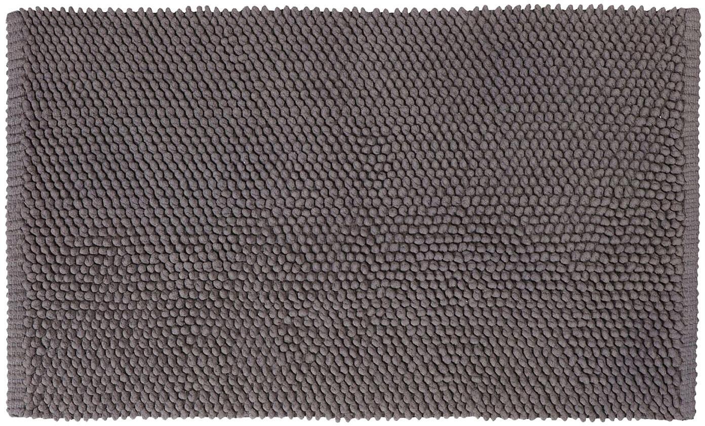 Alfombrilla de baño Anja, 100%algodón, Gris oscuro, An 50 x L 80 cm