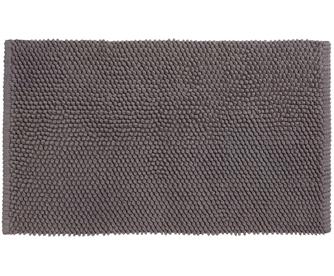 Tappeto bagno grigio scuro Anja, Cotone, Grigio scuro, Larg. 50 x Lung. 80 cm