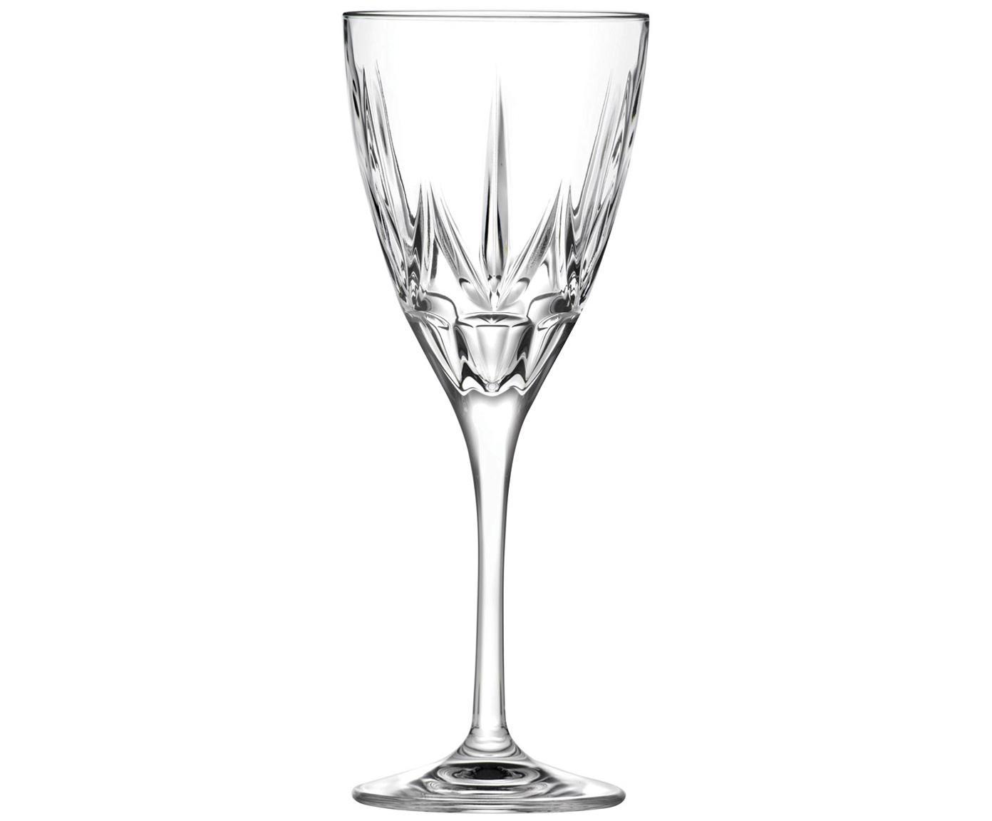 Kristallen witte wijnglazen Chic, 6 stuks, Kristalglas, Transparant, Ø 8 x H 21 cm