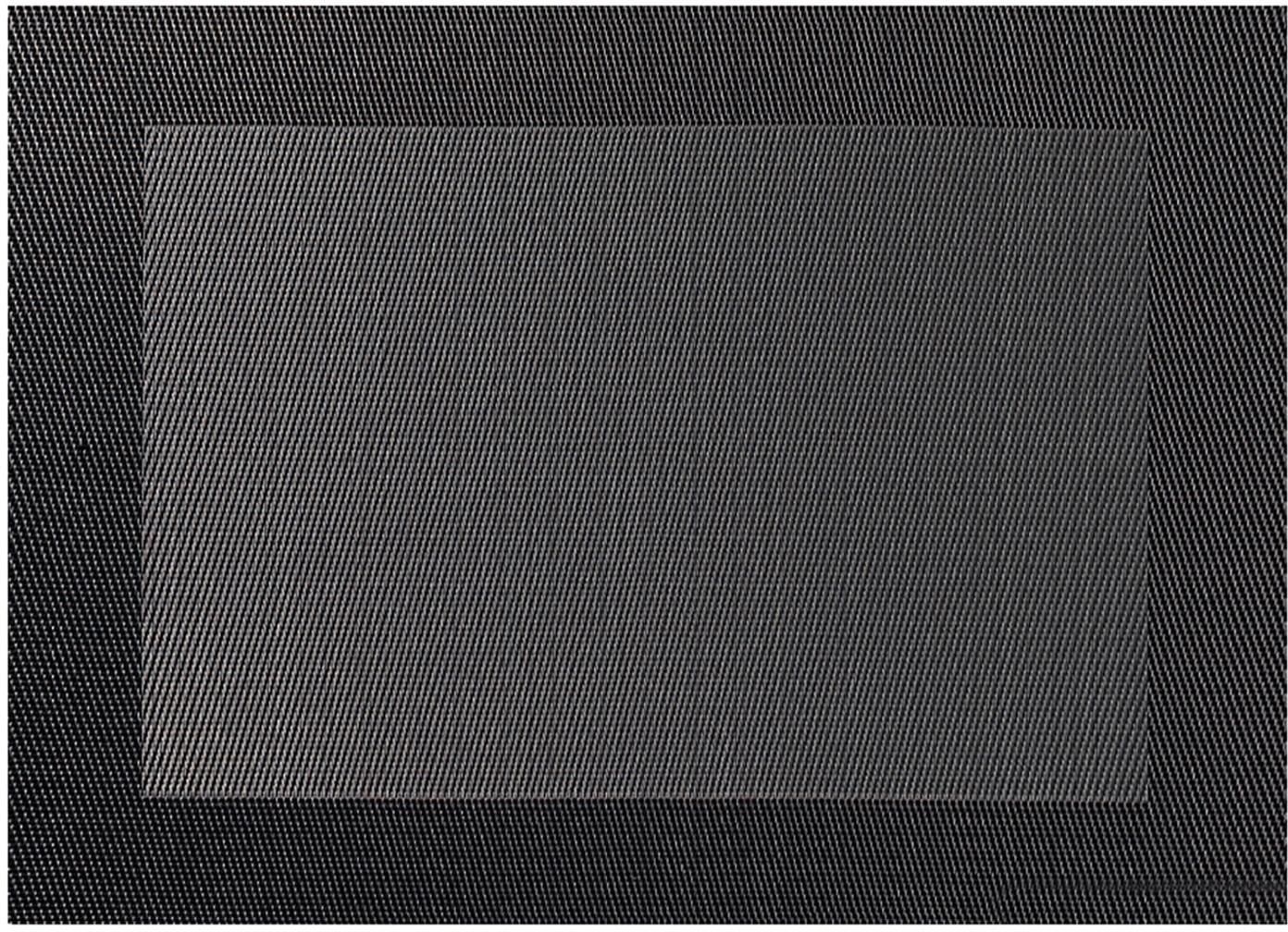 Placemats Trefl, 2 stuks, Kunststof (PVC), Donkergrijs, antraciet, 33 x 46 cm