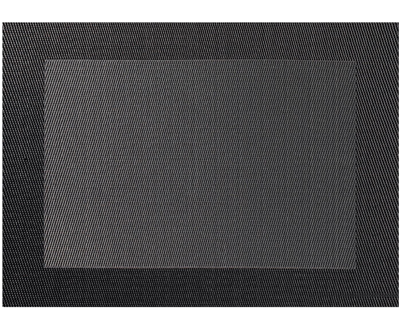 Tovaglietta americana in materiale sintetico Trefl 2 pz, Materiale sintetico (PVC), Grigio scuro, antracite, Larg. 33 x Lung. 46 cm