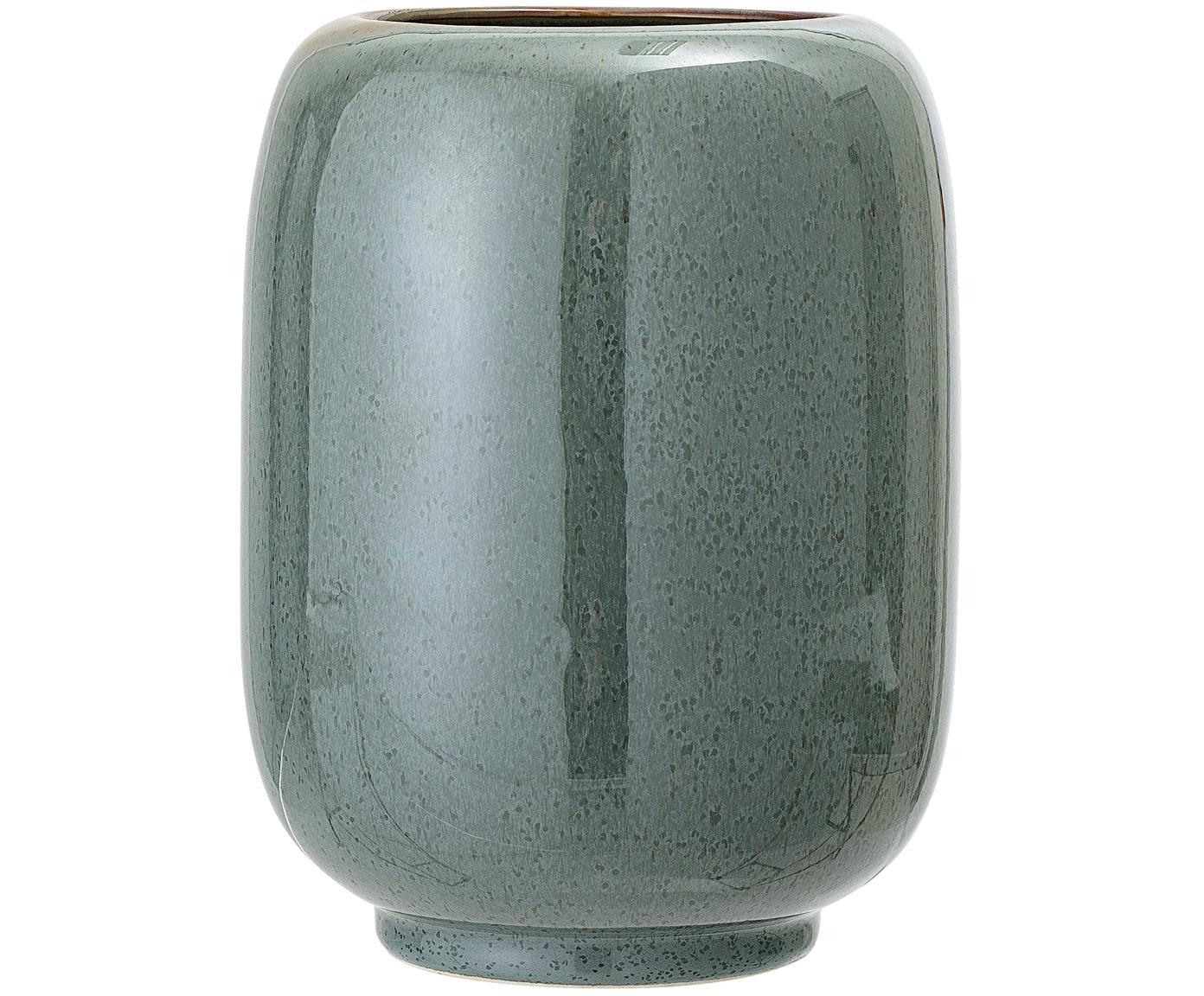Wazon z ceramiki Verena, Ceramika, Zielony, brązowy, Ø 14 x W 18 cm