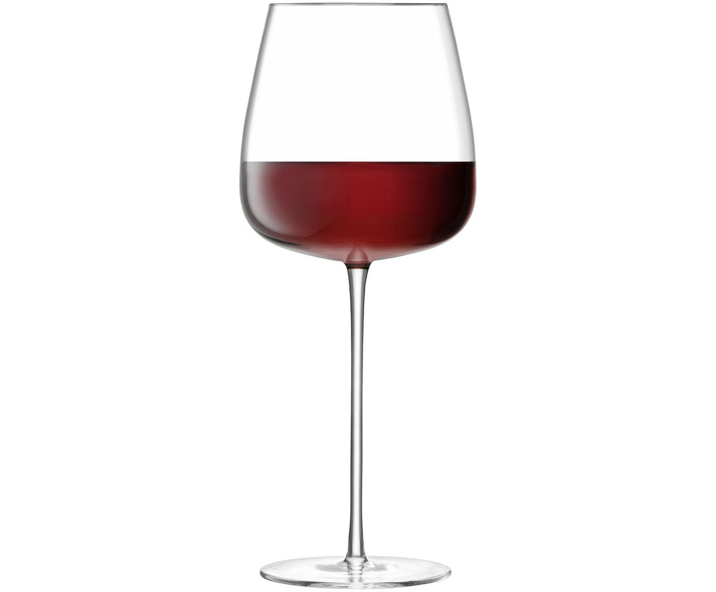 Mondgeblazen rode wijnglazen Wine Culture, 2 stuks, Glas, Transparant, Ø 11 x H 26 cm