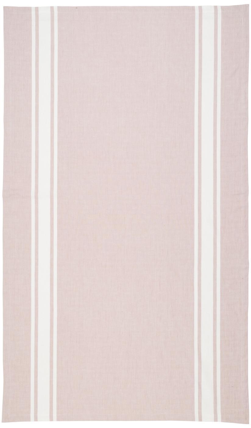 Tischdecke New French, Baumwolle, Rosa, Weiss, Für 6 - 8 Personen (B 140 x L 250 cm)