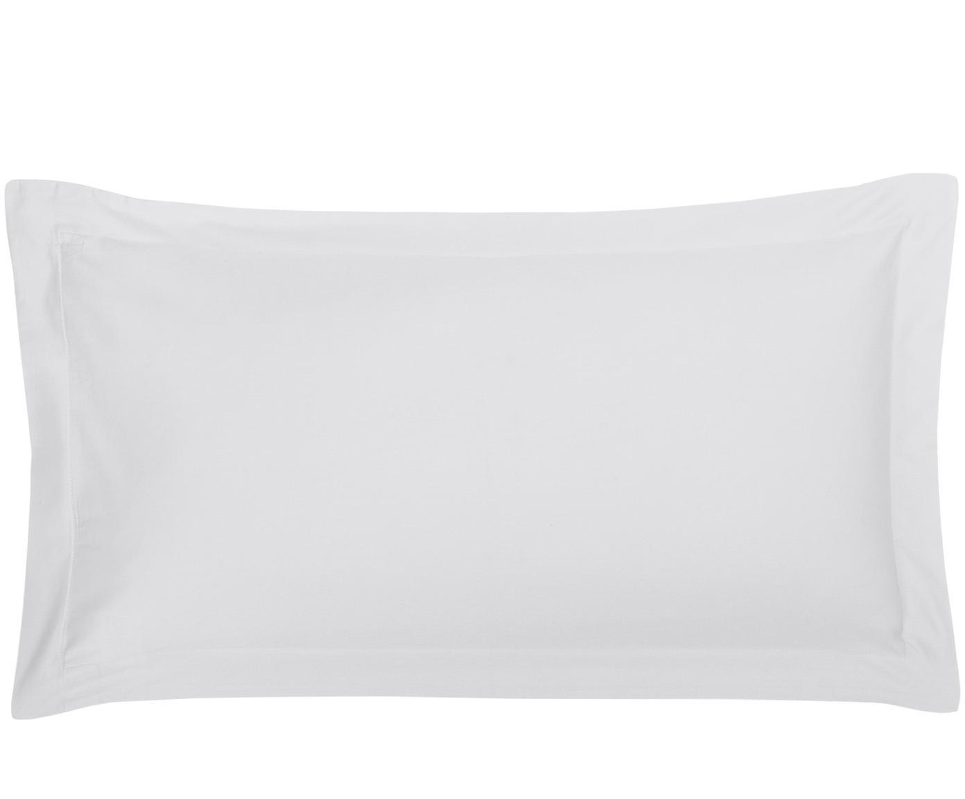 Baumwollsatin-Kissenbezüge Premium in Hellgrau mit Stehsaum, 2 Stück, Webart: Satin Fadendichte 400 TC,, Hellgrau, 40 x 80 cm