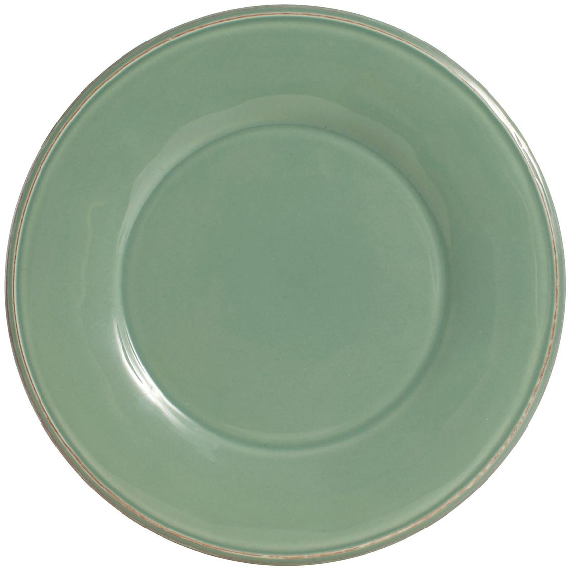 Piattino da dessert verde salvia Constance 2 pz, Terracotta, Verde salvia, Ø 24 cm