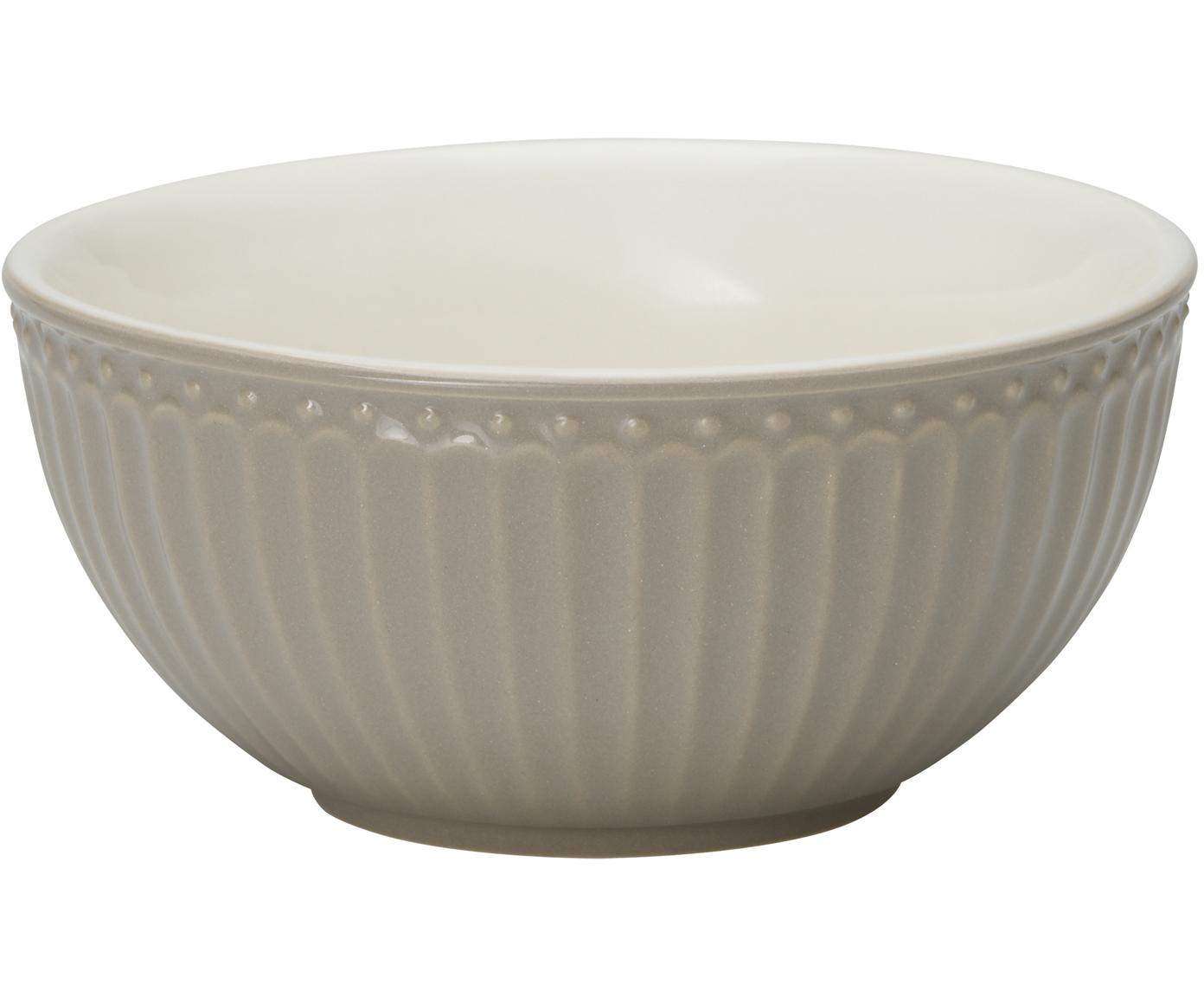 Miska Alice, 2 szt., Porcelana, Szary, Ø 14 cm