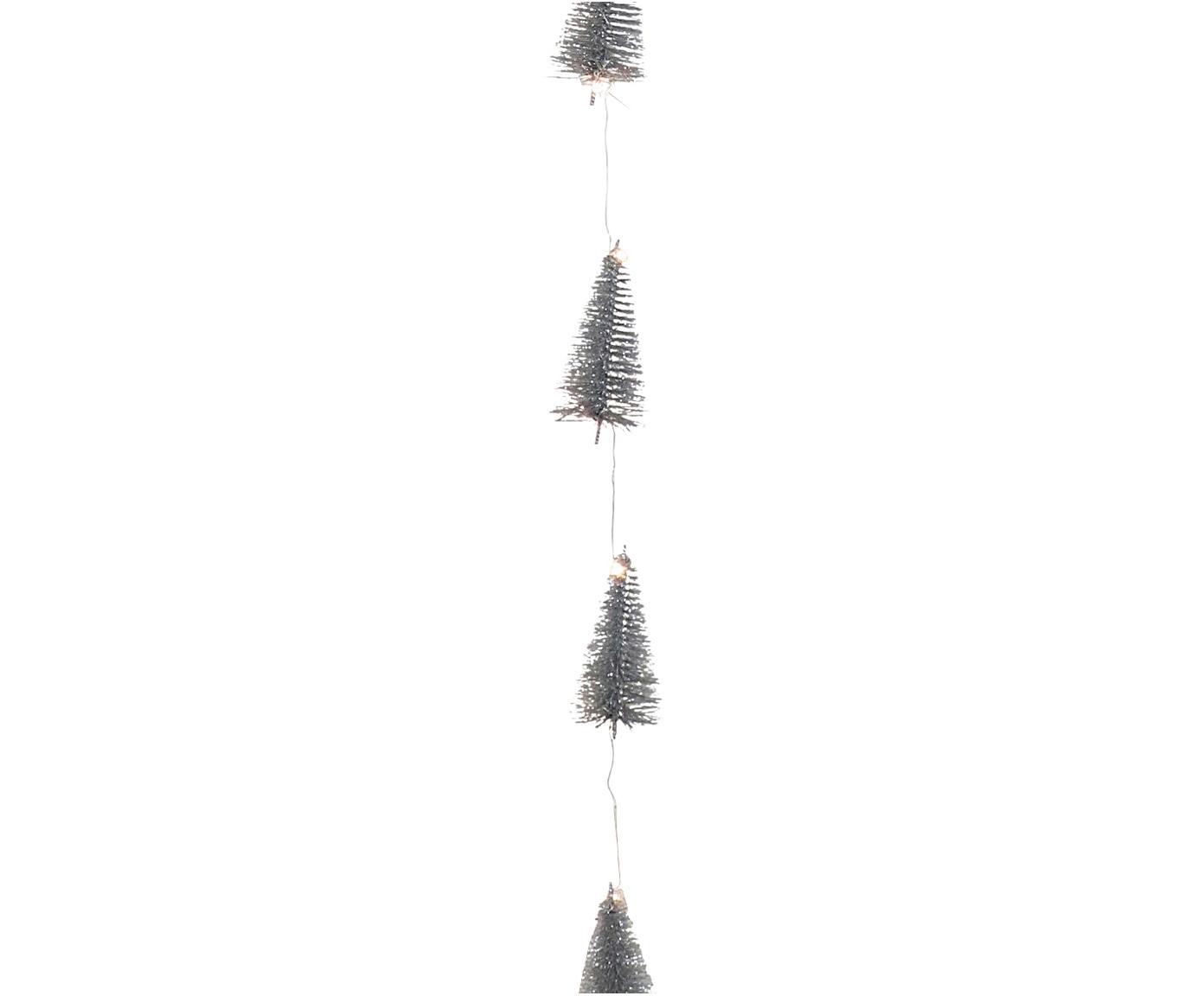 LED Girlande Illumination, Metalldraht, Kunststoff, Glitzer, Silberfarben, L 253 cm