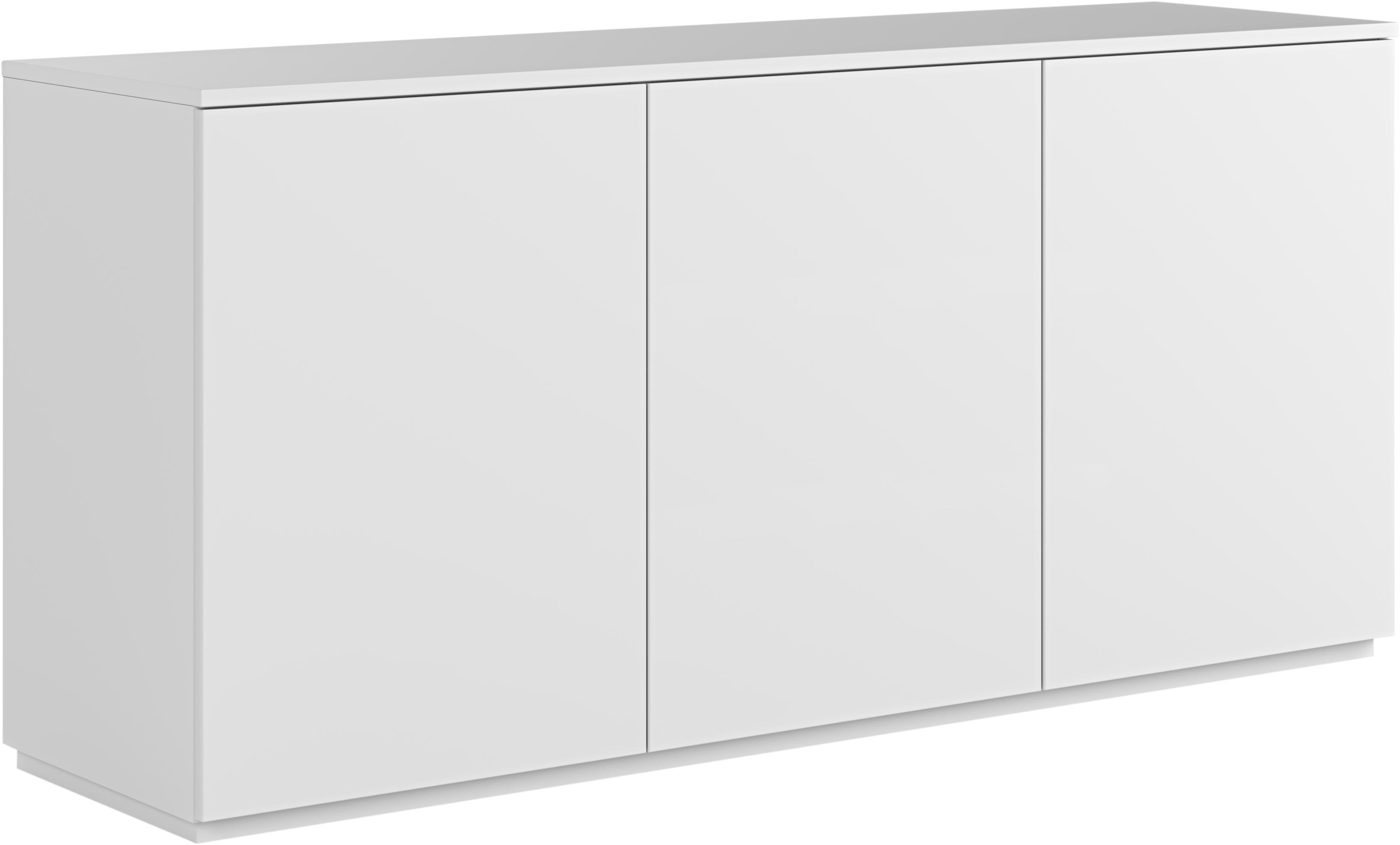 Weisses Sideboard Join mit Türen, Mitteldichte Holzfaserplatte, lackiert, Weiss, 180 x 84 cm