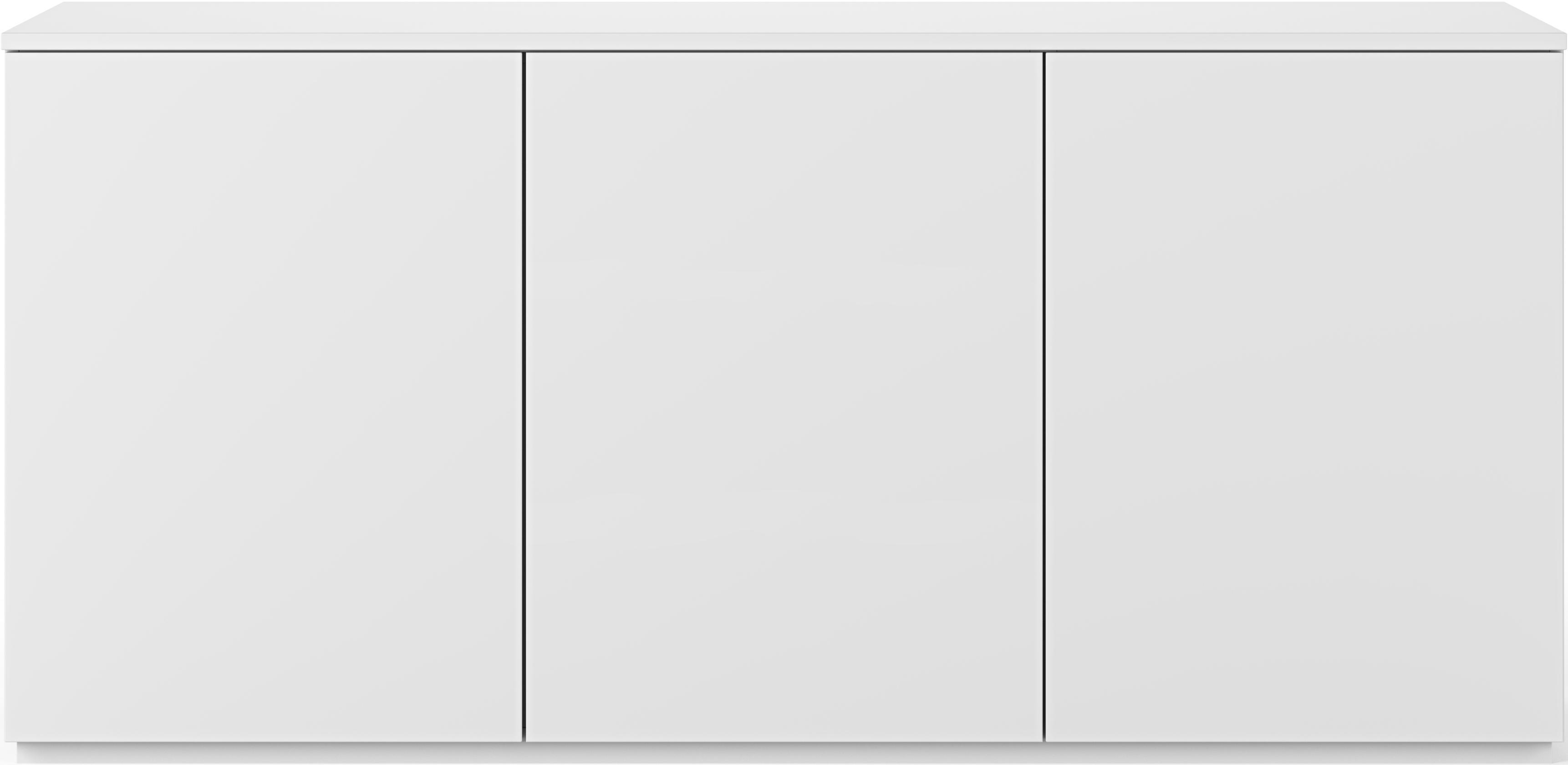 Credenza bianca con ante Join, Pannello di fibra a media densità, verniciato, Bianco, Larg. 180 x Alt. 84 cm