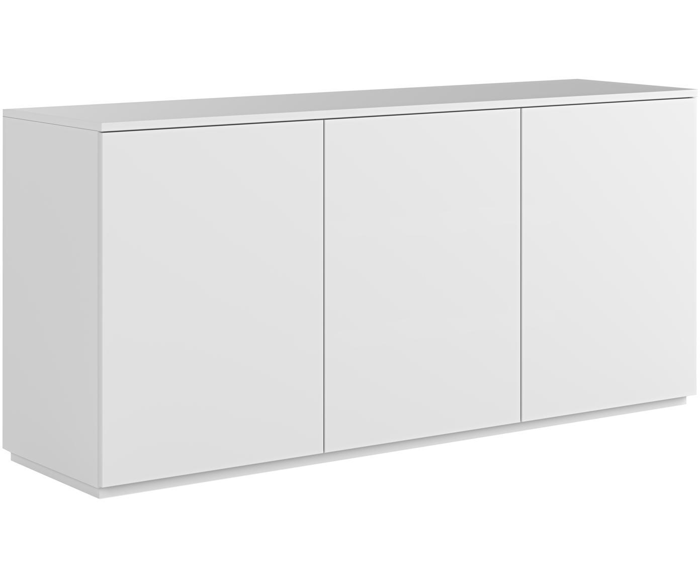 Weißes Sideboard Join mit Türen, Mitteldichte Holzfaserplatte, lackiert, Weiß, 180 x 84 cm