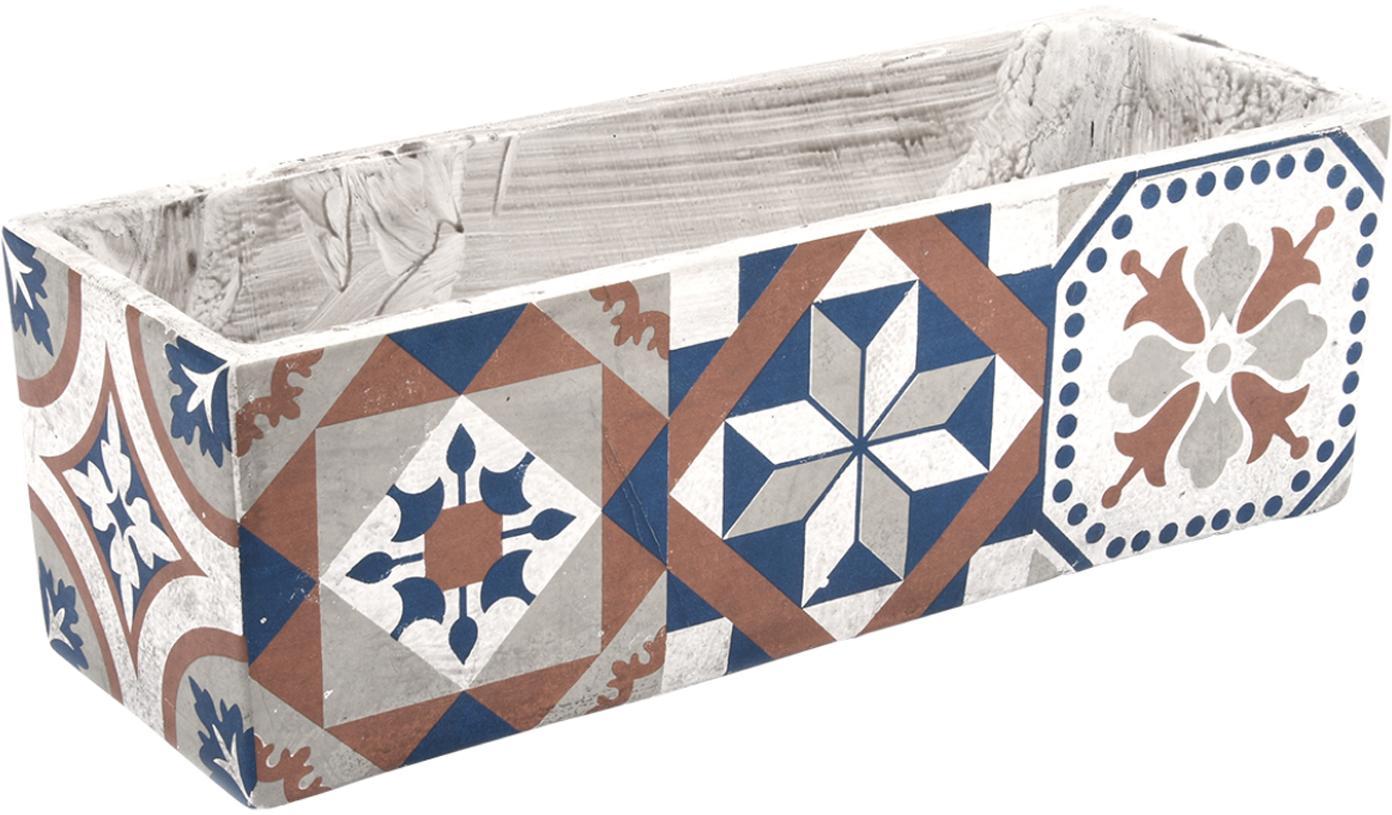 XL Übertopf Portugal aus Beton, Beton, Mehrfarbig, 39 x 13 cm