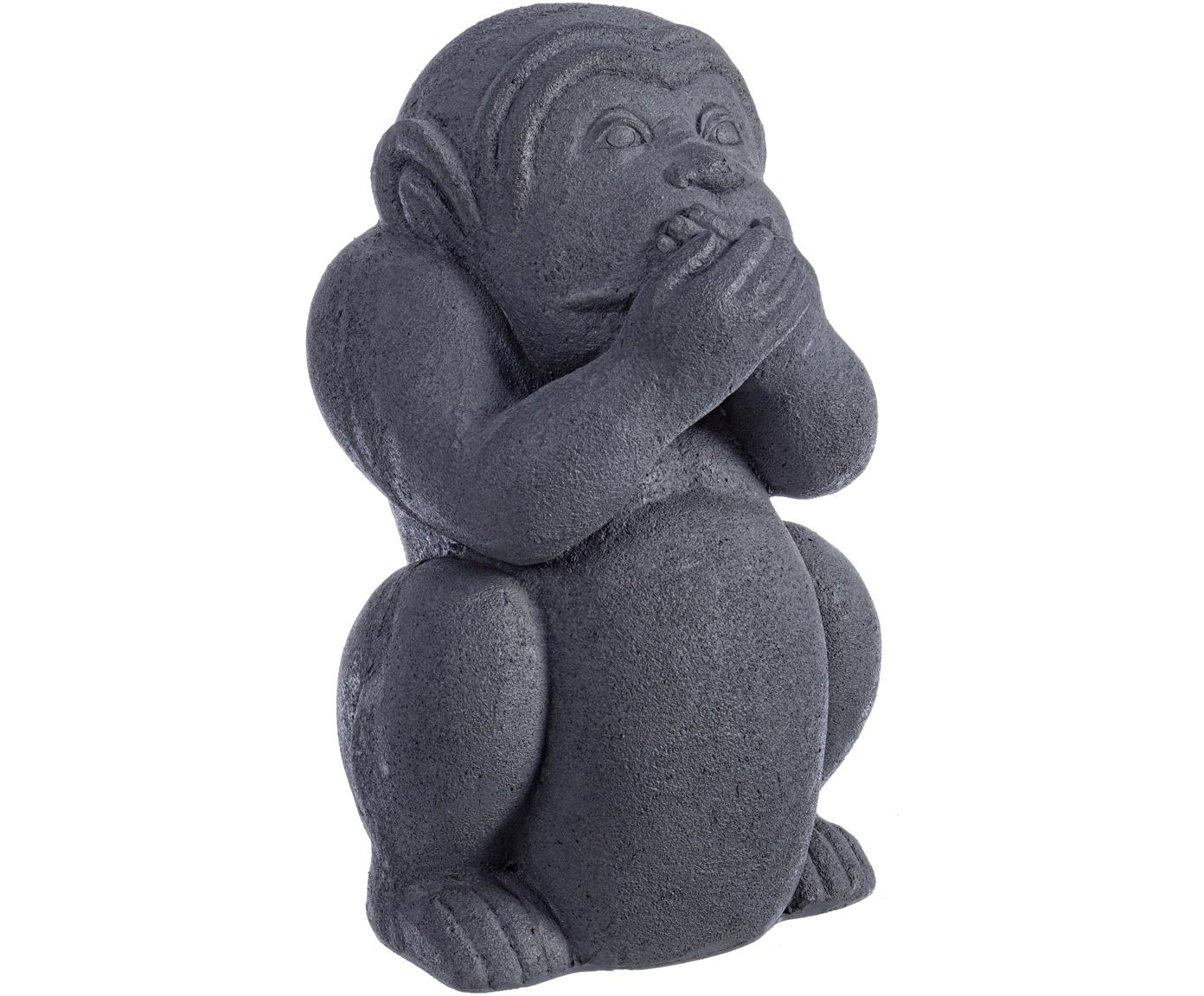 Oggetto decorativo Monkey, Cemento, rivestito, Antracite, Larg. 22 x Alt. 36 cm