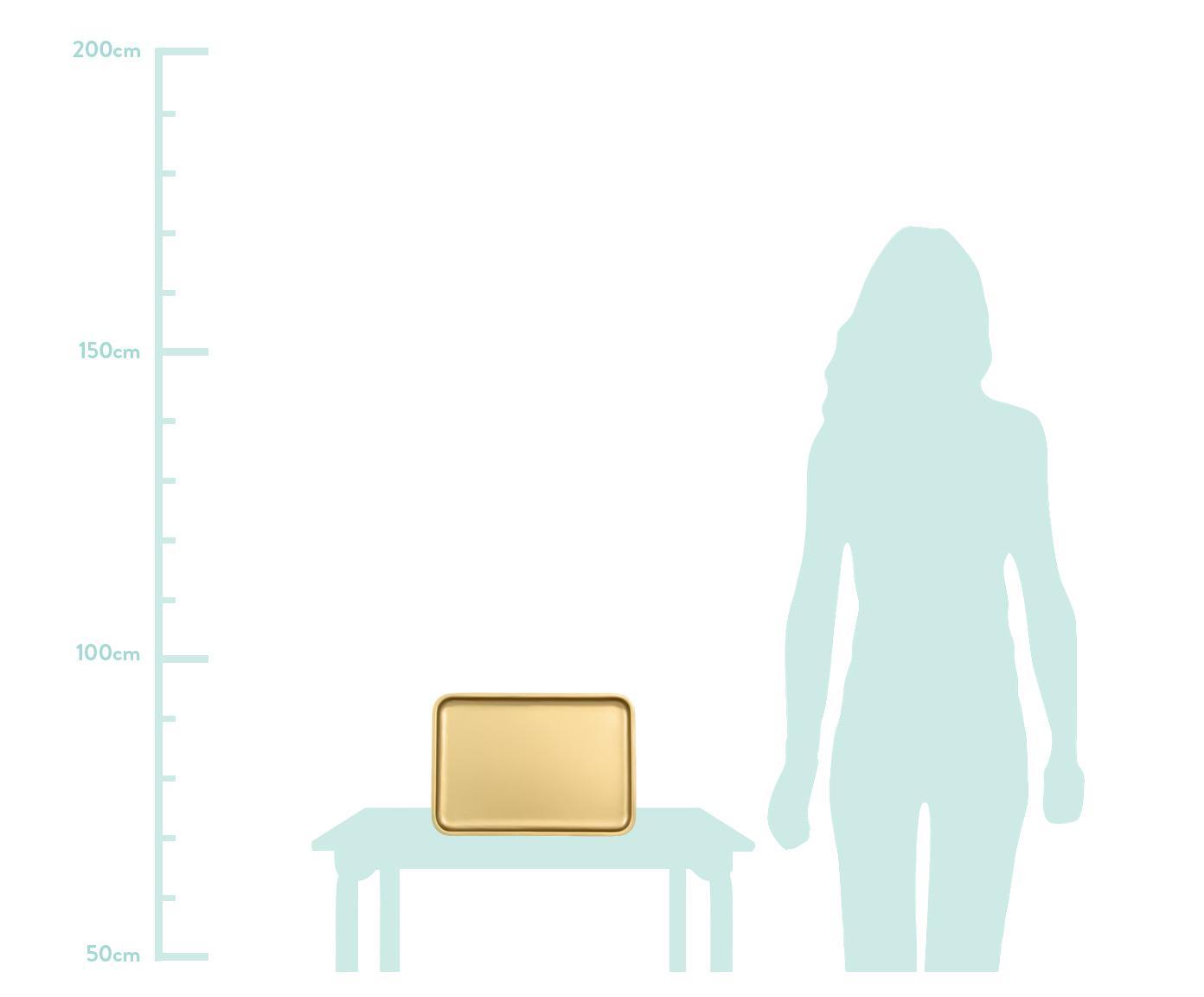 Tablett Good Morning in Gold, Metall, beschichtet, Messingfarben, B 34 x T 23 cm