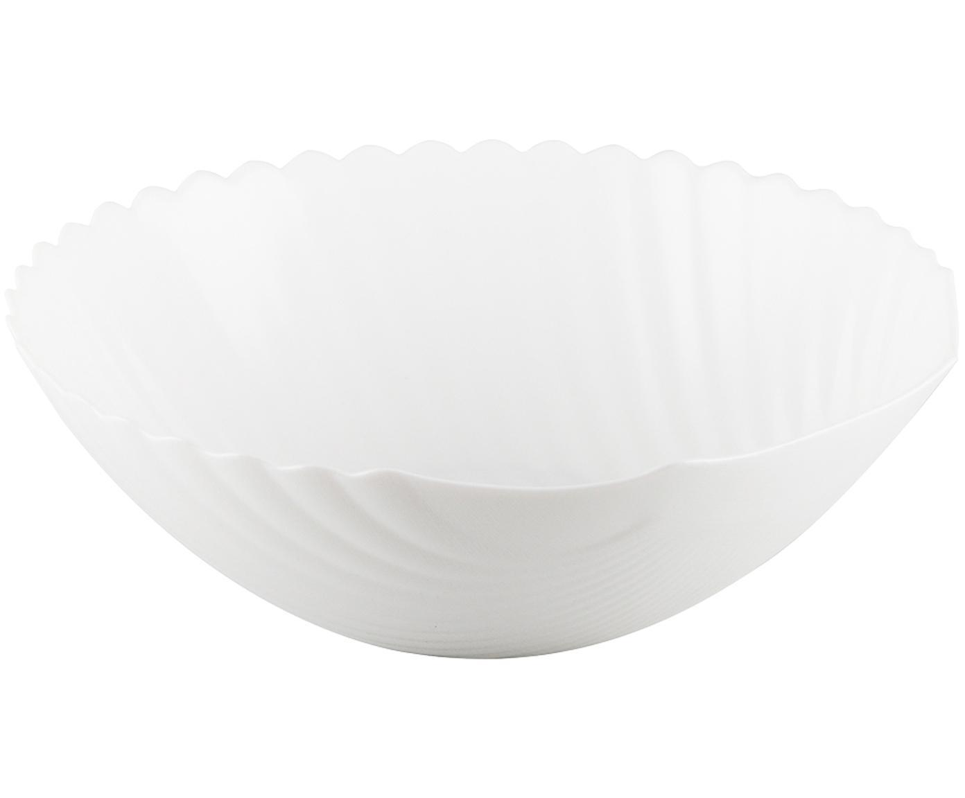 Schüssel Shell in Muschelform, Glas, Weiß, Ø 24 x H 8 cm