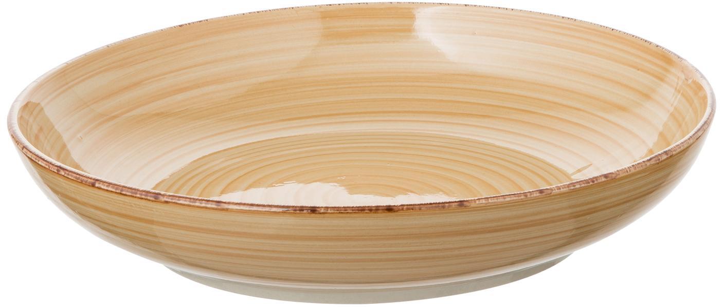 Ciotola centrotavola dipinta a mano color crema Baita, Terracotta dipinta a mano, Crema, Ø 27 x Alt. 5 cm