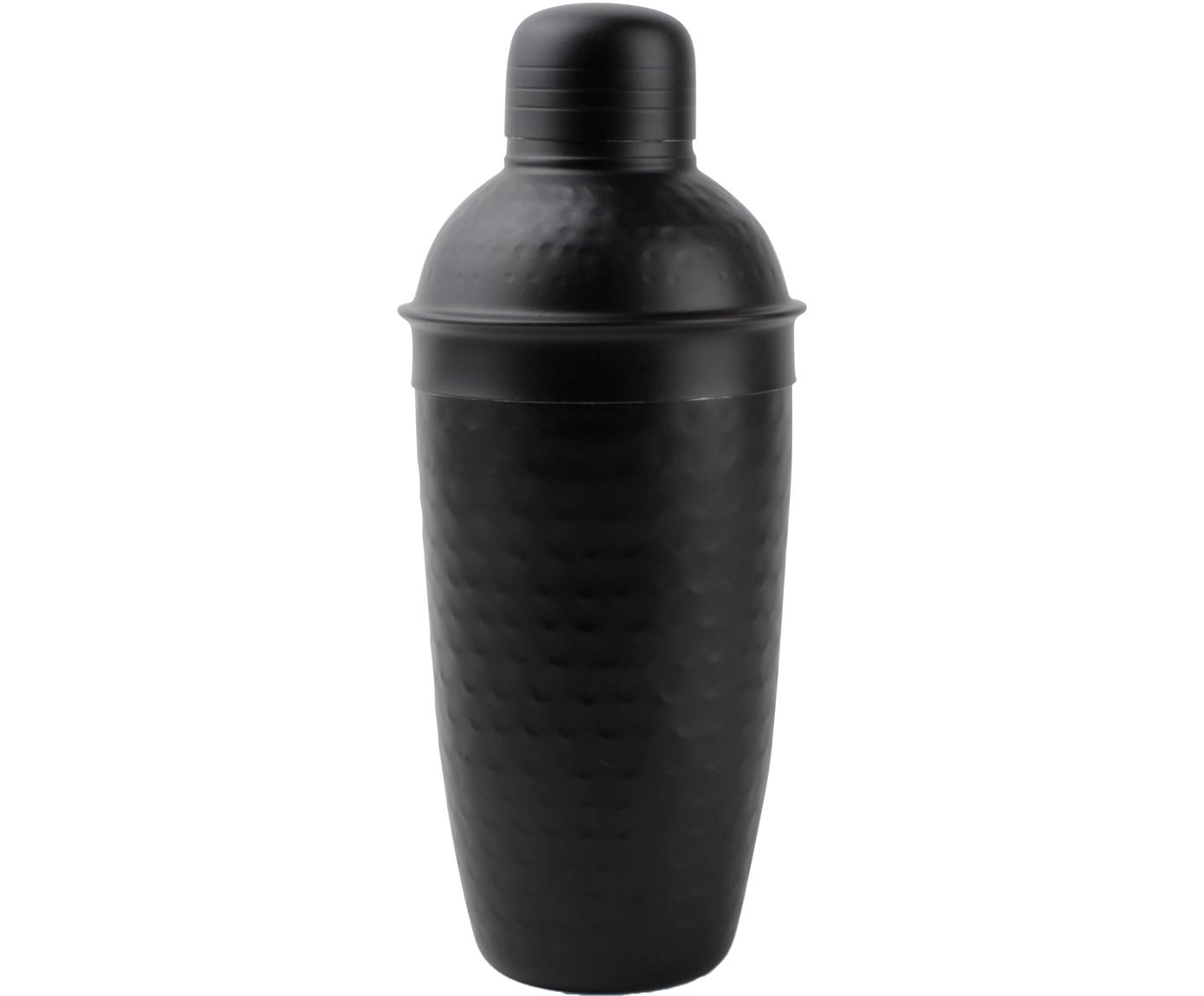 Cocktail Shaker Onur, Edelstahl, beschichtet und gehämmert, Schwarz, Ø 9 x H 22 cm