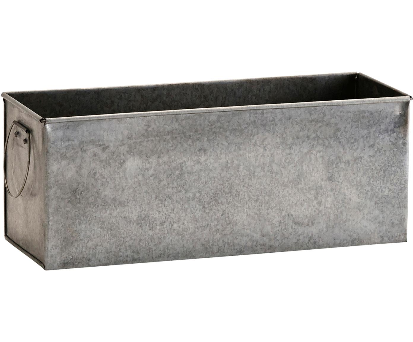 Osłonka na doniczkę Zintly, Metal ocynkowany, Cynk, S 29 x W 11 cm