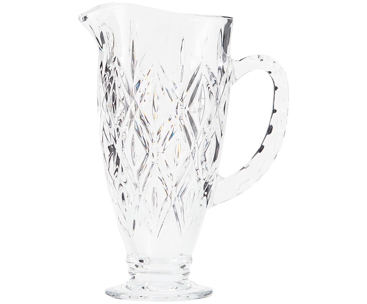 Kryształowy dzbanek Waltham, Szkło kryształowe, Transparentny, 1 l