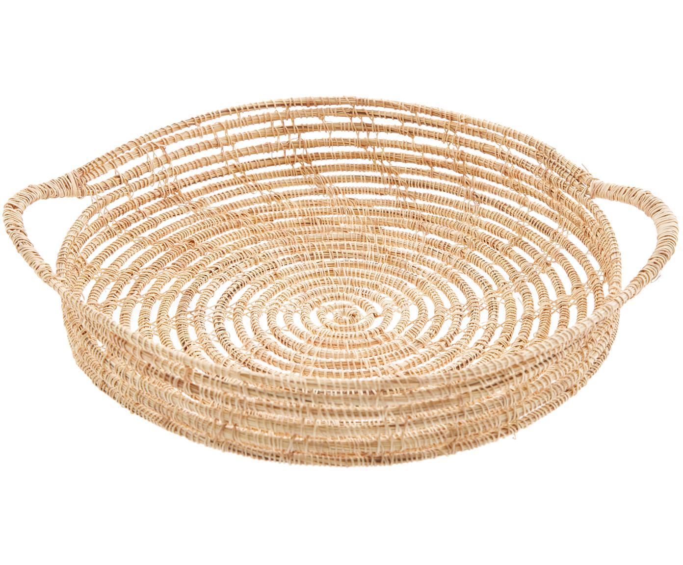 Vassoio in fibre di palma Emilia, Fibre di palma, Fibre di palma, Ø 30 cm