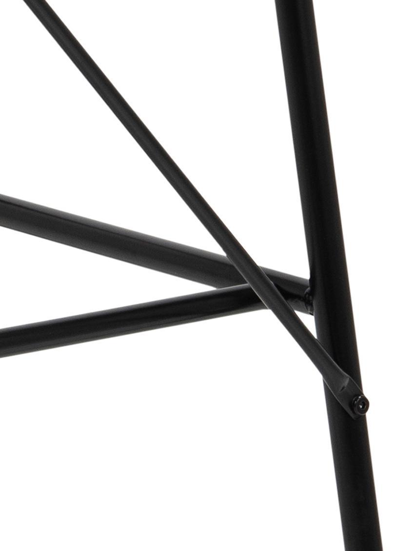 Scrivania con piano bianco Pascal, Piano d'appoggio: pannello di fibra a media, Gambe: metallo verniciato a polv, Bianco, nero, Larg. 100 x Prof. 55 cm