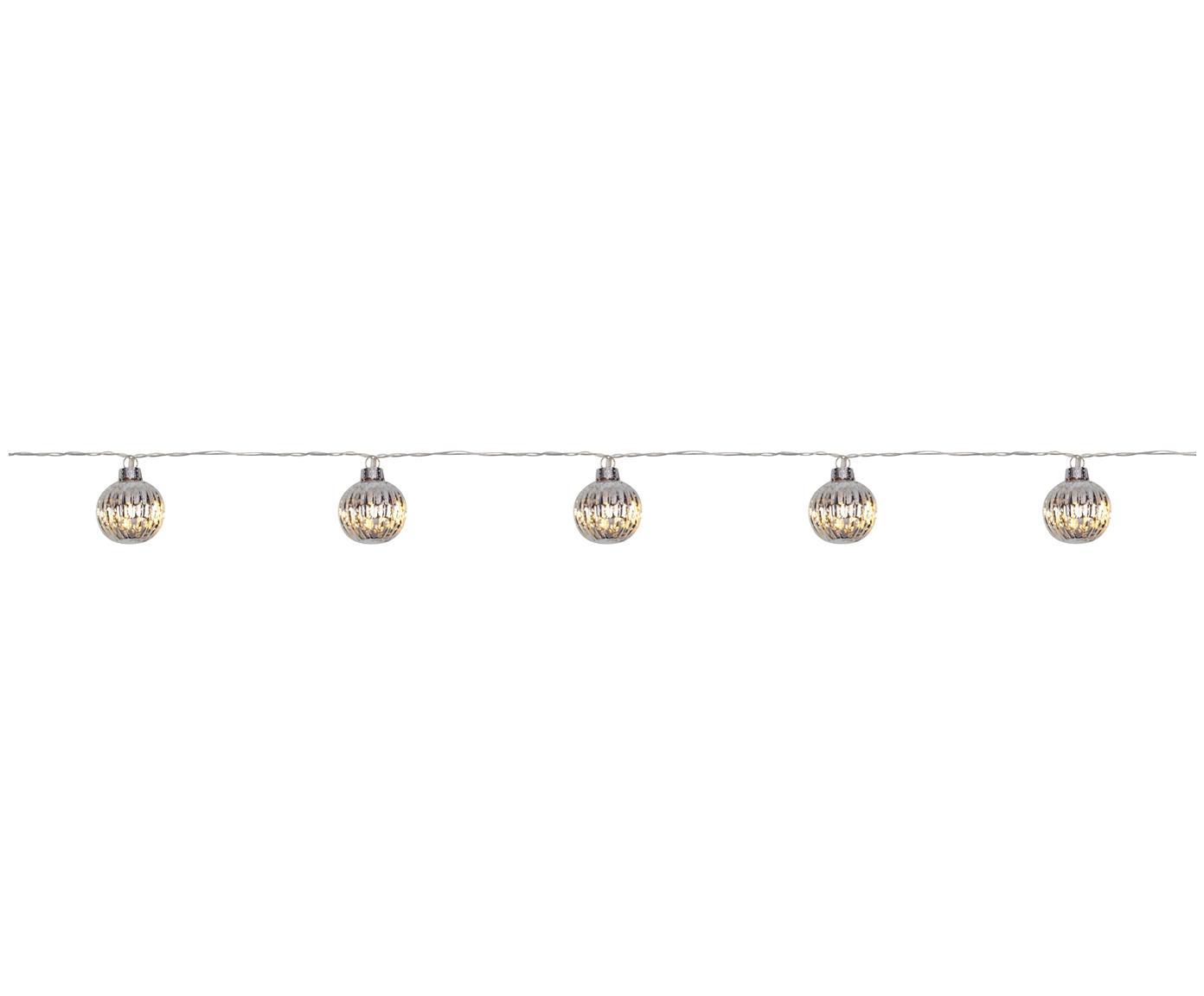 Ghirlanda a LED Solo, Paralume: vetro, Argento, Lung. 170 x Alt. 6 cm