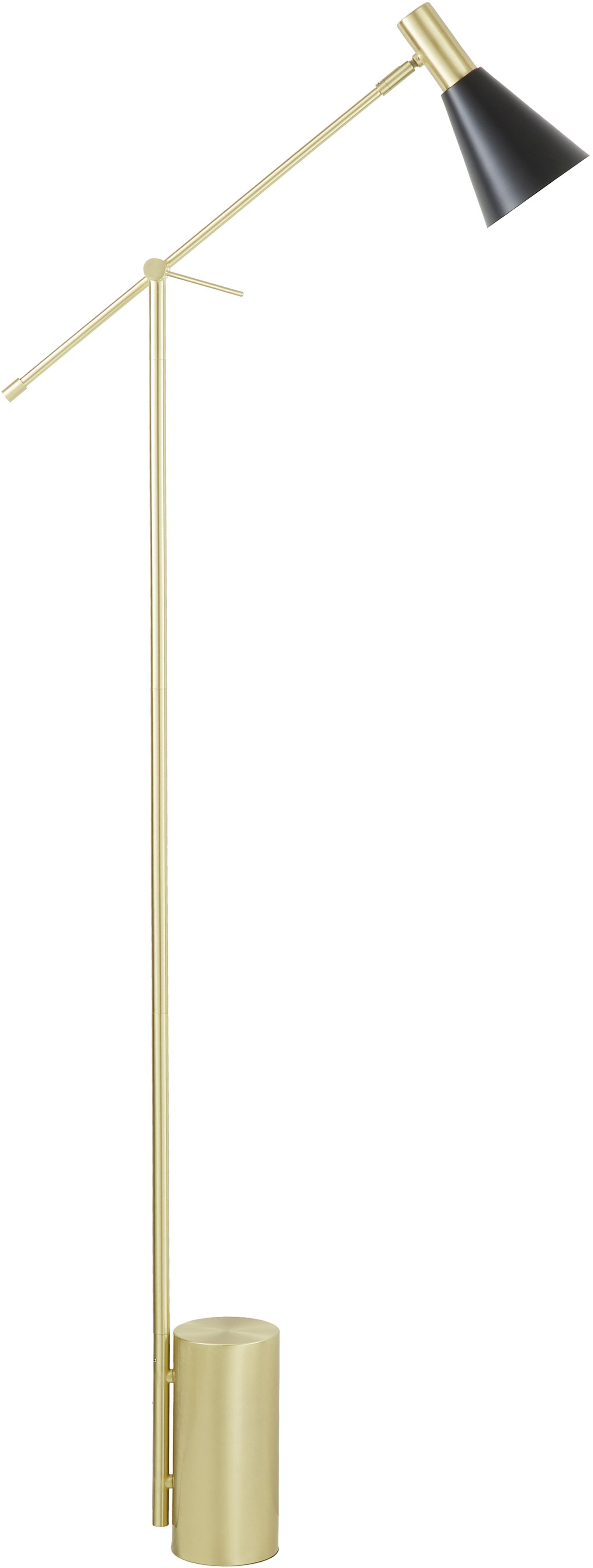 Lámpara de pie Sia, Cable: cubierto en tela, Negro, Ø 14 x Al 162 cm