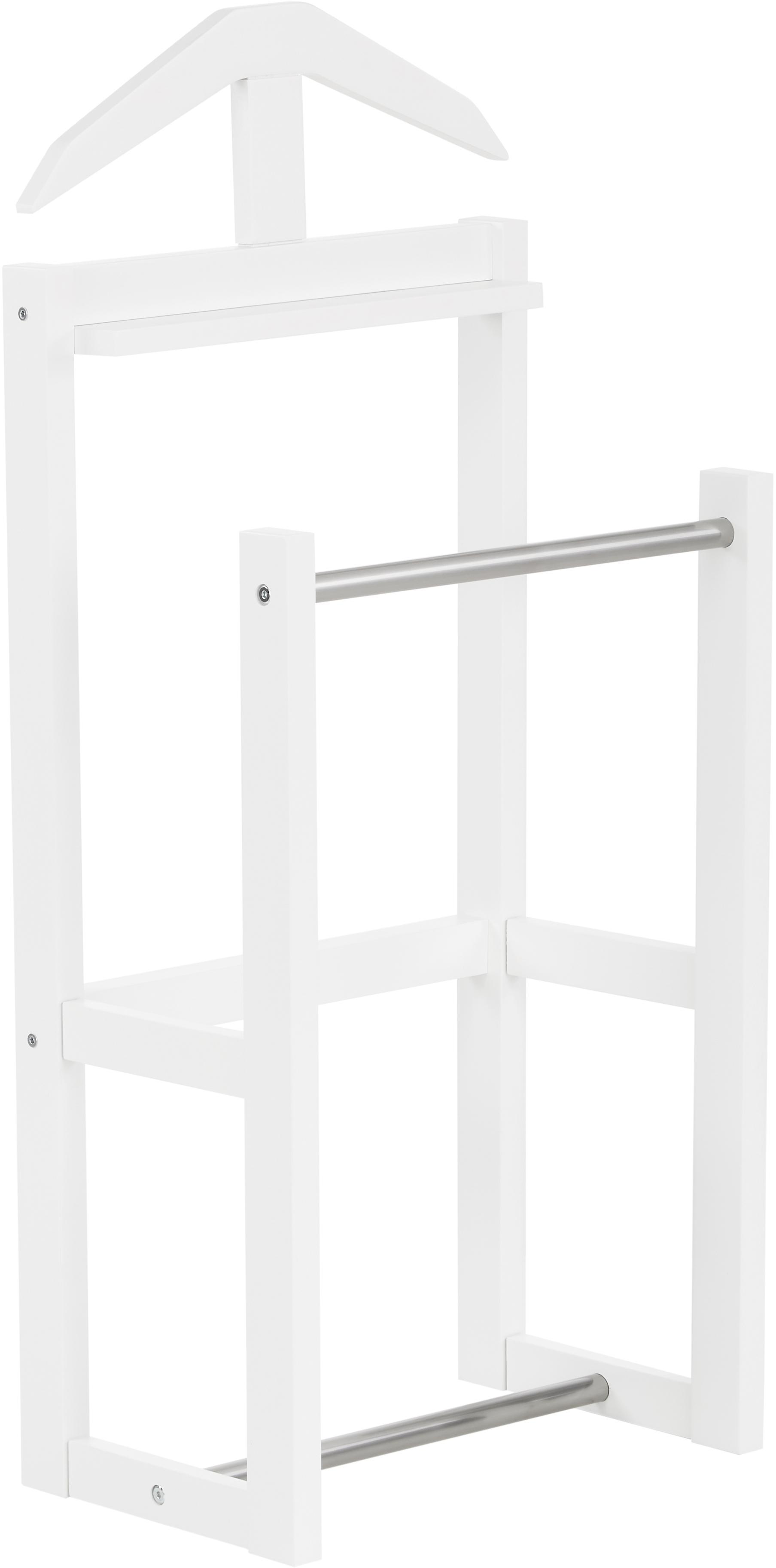 Wieszak stojący Diener Confetti, Drewno dębowe, lakierowane, Biały, S 44 x W 100 cm