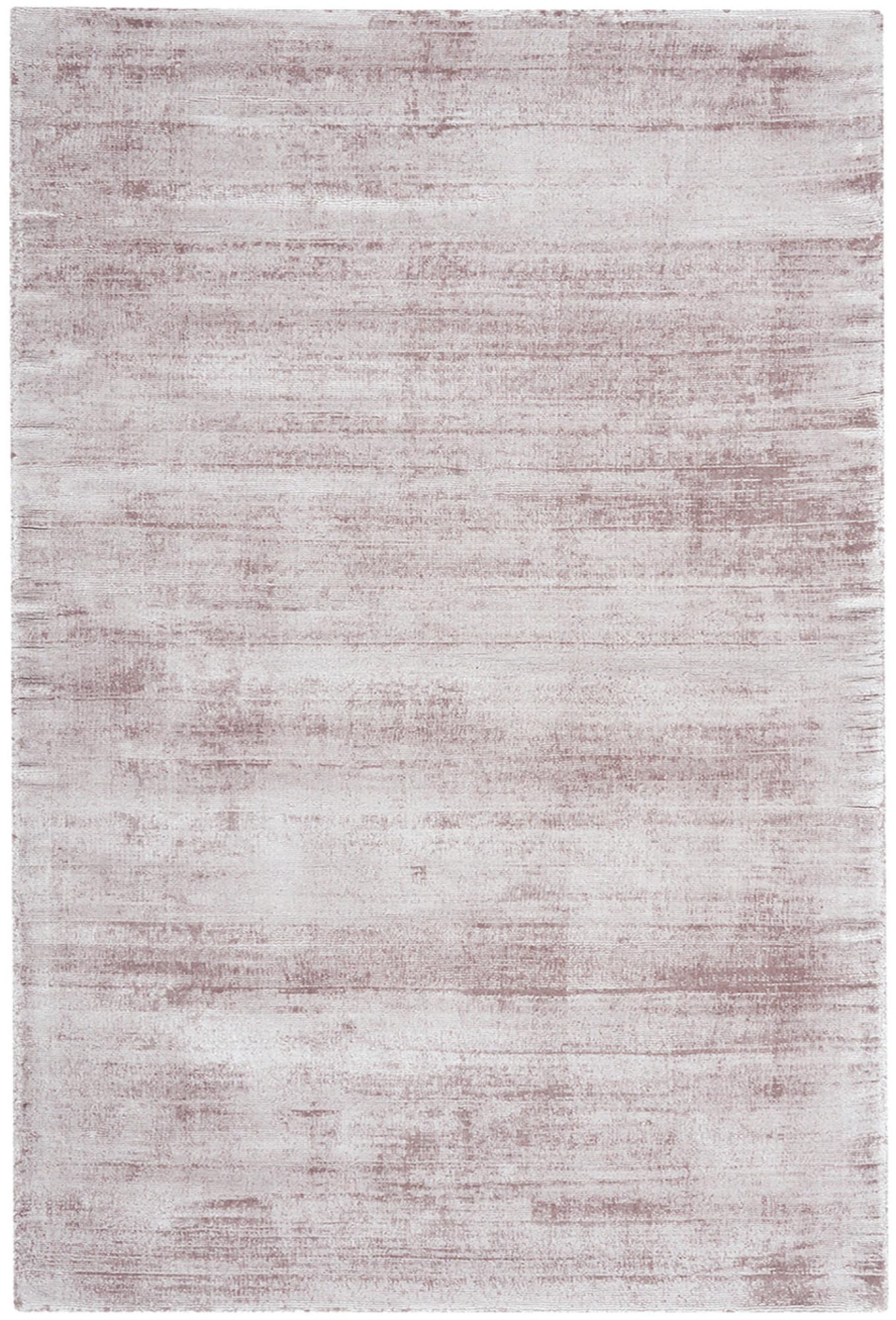 Tappeto in viscosa tessuto a mano Jane, Retro: 100% cotone, Lilla, Larg. 200 x Lung. 300 cm (taglia L)