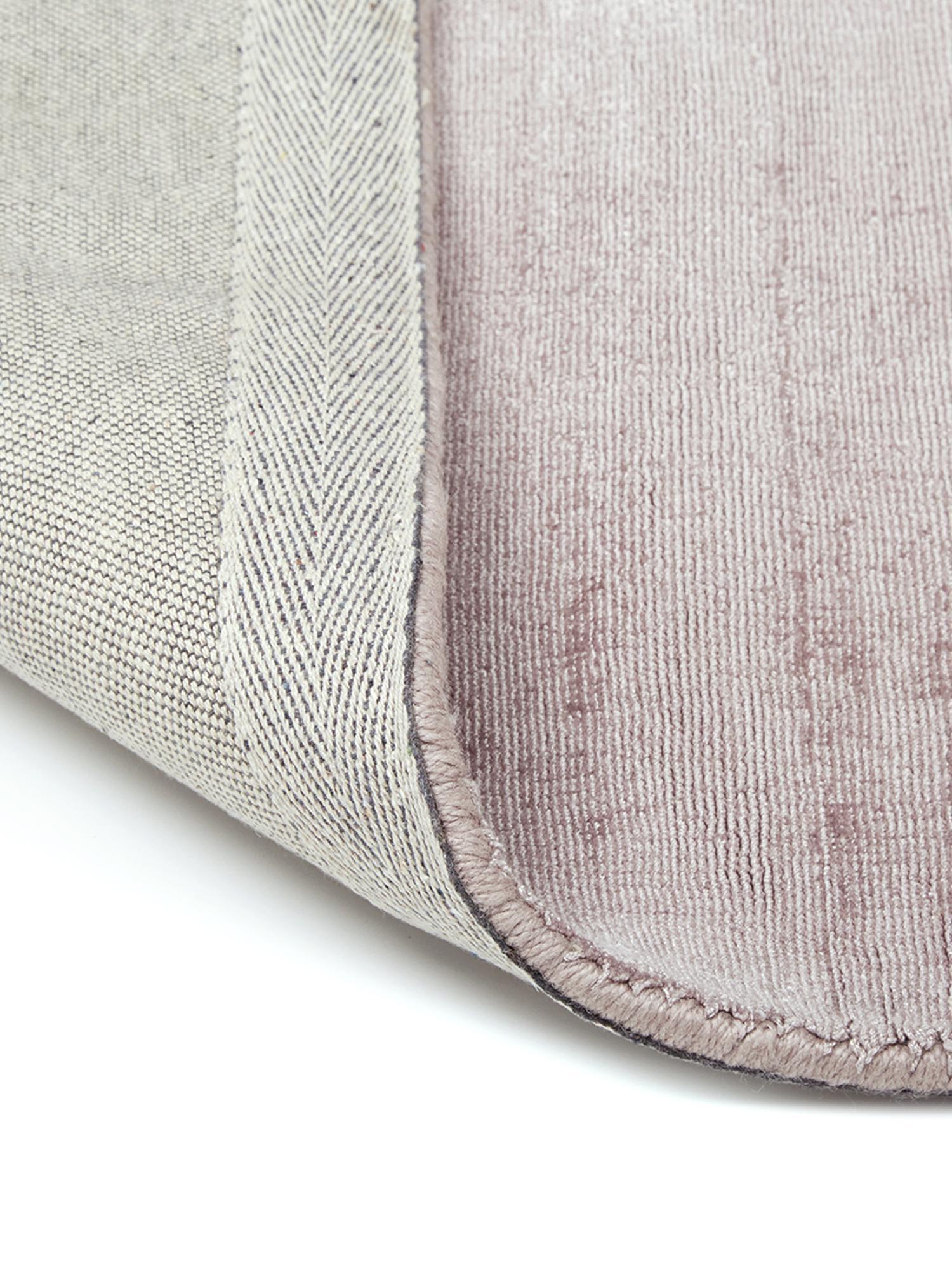 Handgewebter Viskoseteppich Jane in Flieder, Flor: 100% Viskose, Flieder, B 200 x L 300 cm (Größe L)