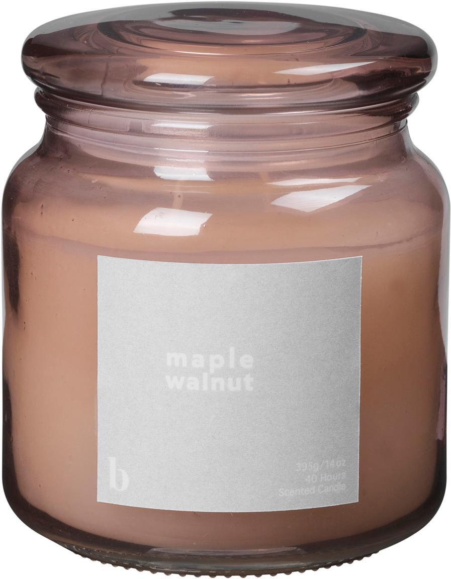 Duftkerze Maple Walnut (Walnuss), Behälter: Glas, Altrosa, Ø 10 x H 12 cm