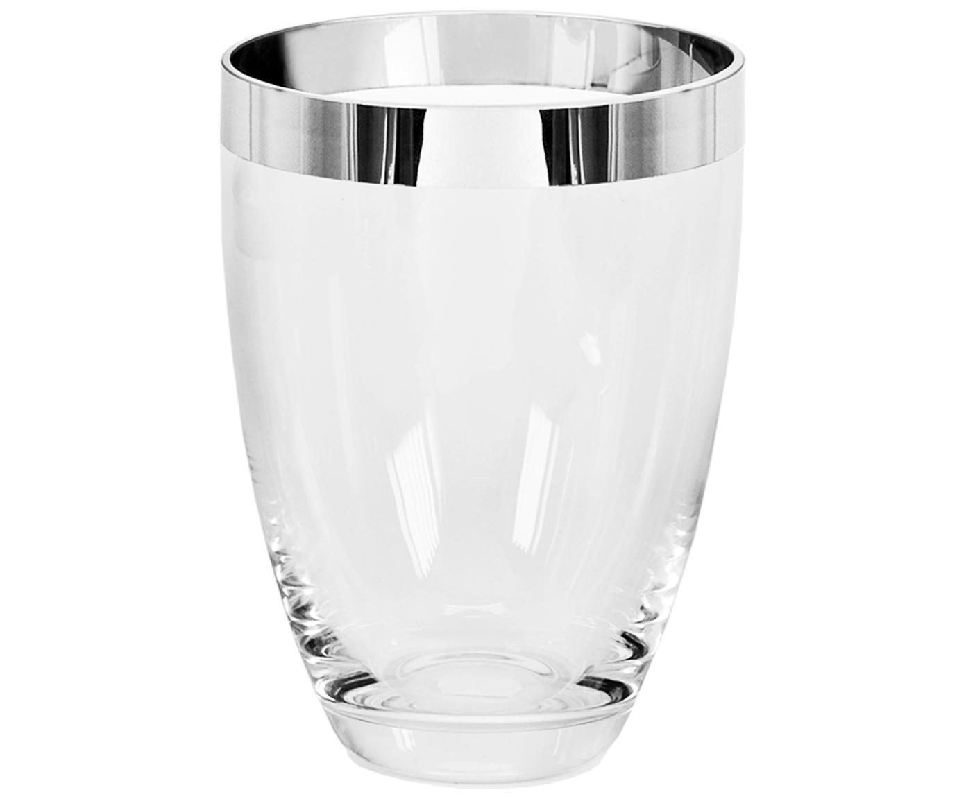 Mundgeblasene Vase Charlotte aus Platinglas, Platinglas, Transparent, Ø 15 x H 20 cm