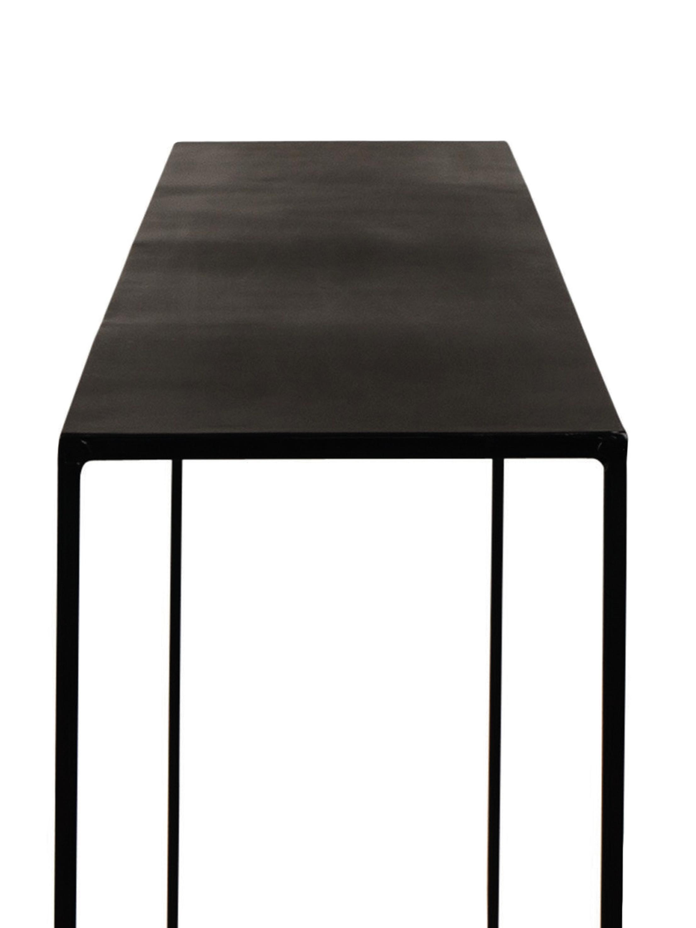 Kovovoý konzolový stolík Expo v čiernej farbe, Čierna