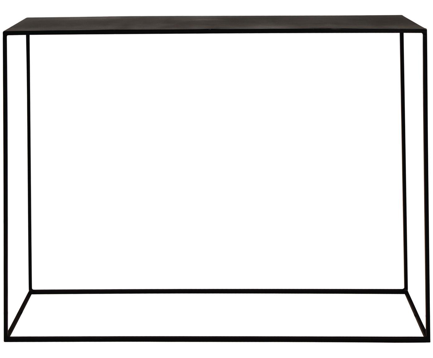 Konsola z metalu Expo, Metal malowany proszkowo, Czarny, S 110 x G 25 cm