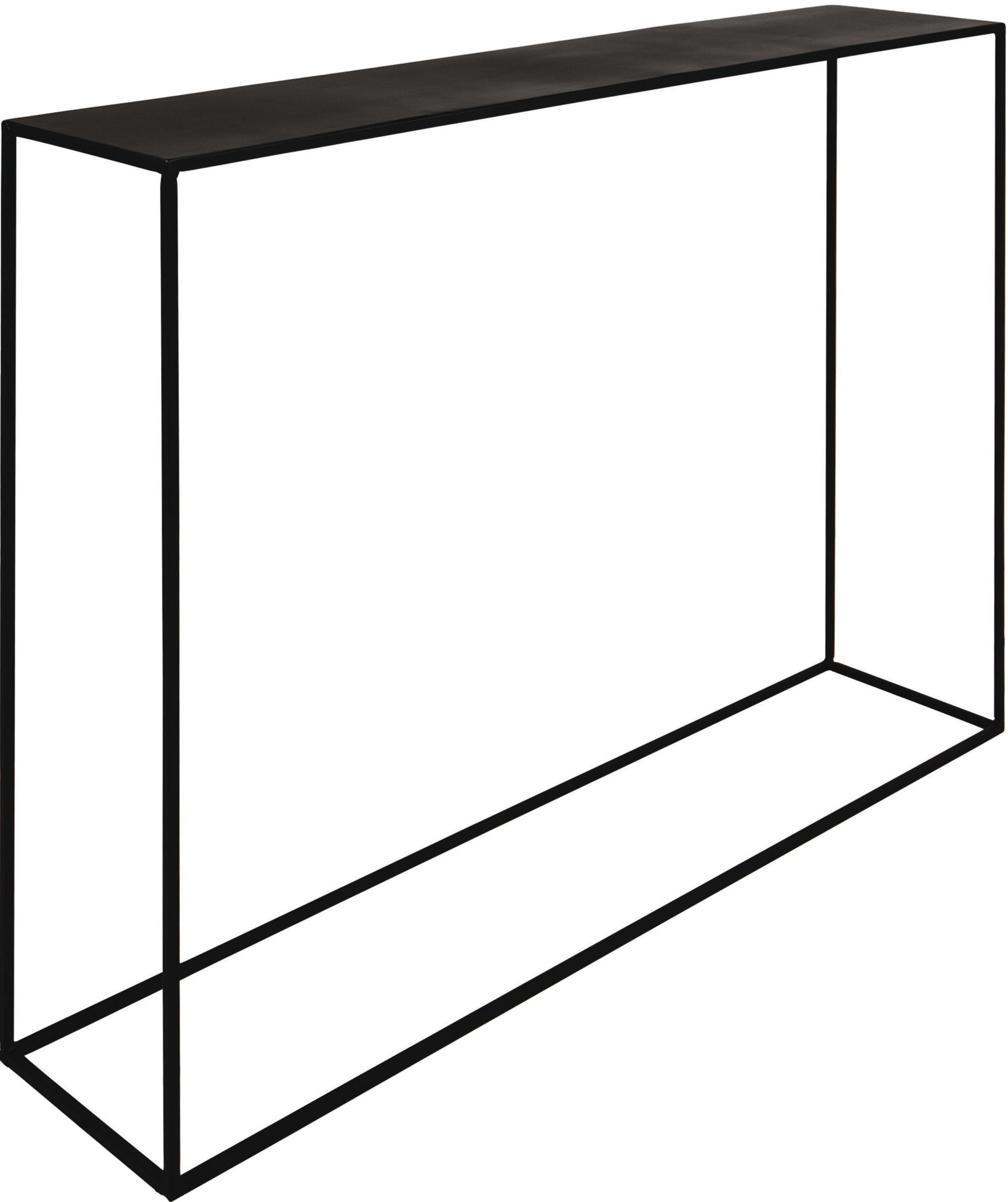 Console noire en métal Expo, Noir
