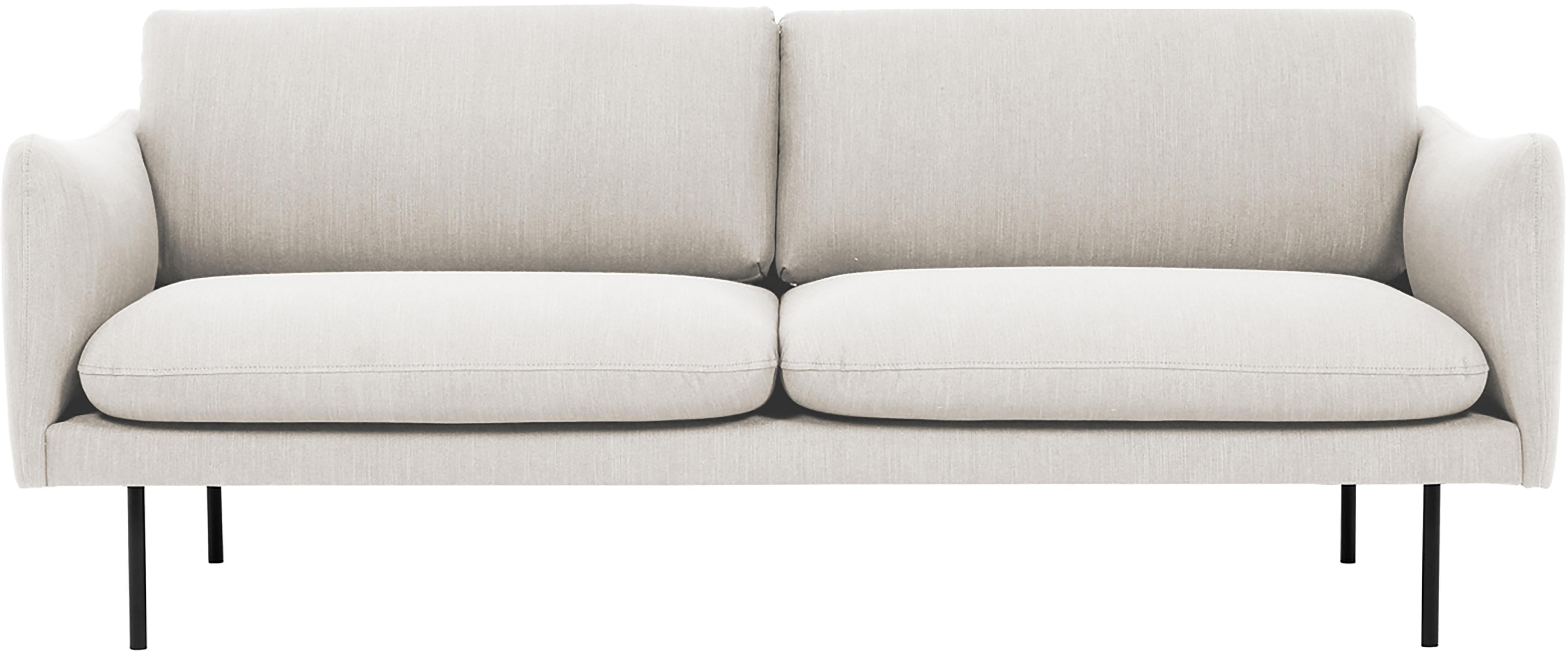 Sofa Moby (2-Sitzer), Bezug: Polyester Der hochwertige, Gestell: Massives Kiefernholz, Webstoff Beige, B 170 x T 95 cm