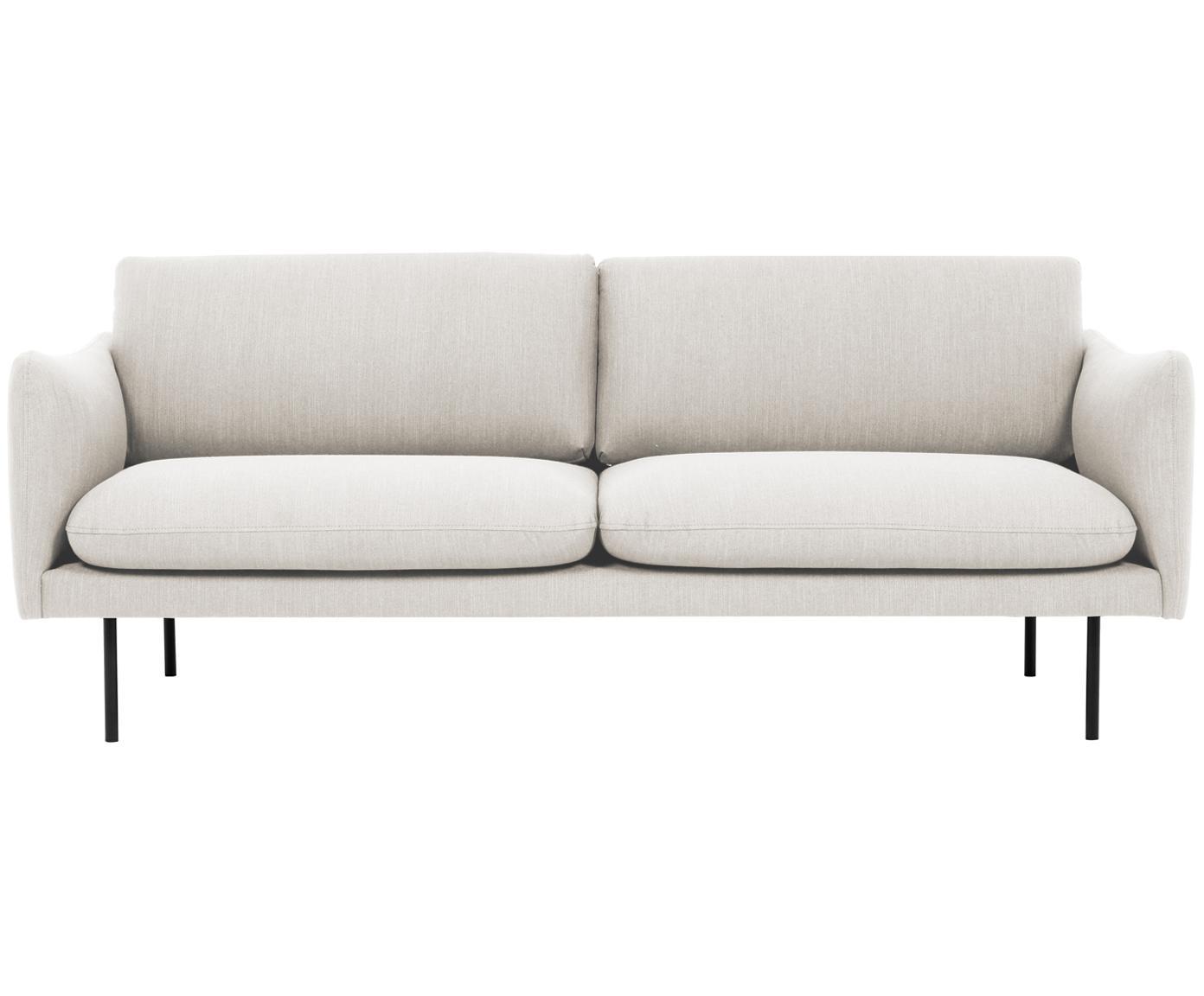 Sofa Moby (2-Sitzer), Bezug: Polyester 60.000 Scheuert, Gestell: Massives Kiefernholz, Webstoff Beige, B 170 x T 95 cm