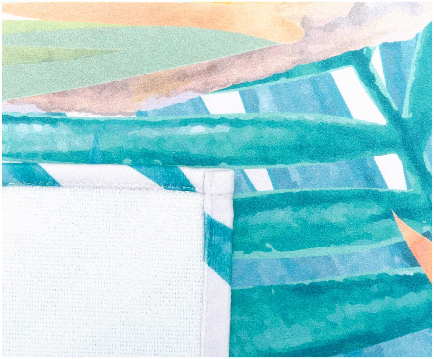 Ręcznik plażowy Tropic, 55% poliester, 45% bawełna Bardzo niska gramatura, 340 g/m², Beżowy, zielony, pomarańczowy, S 70 x D 150 cm