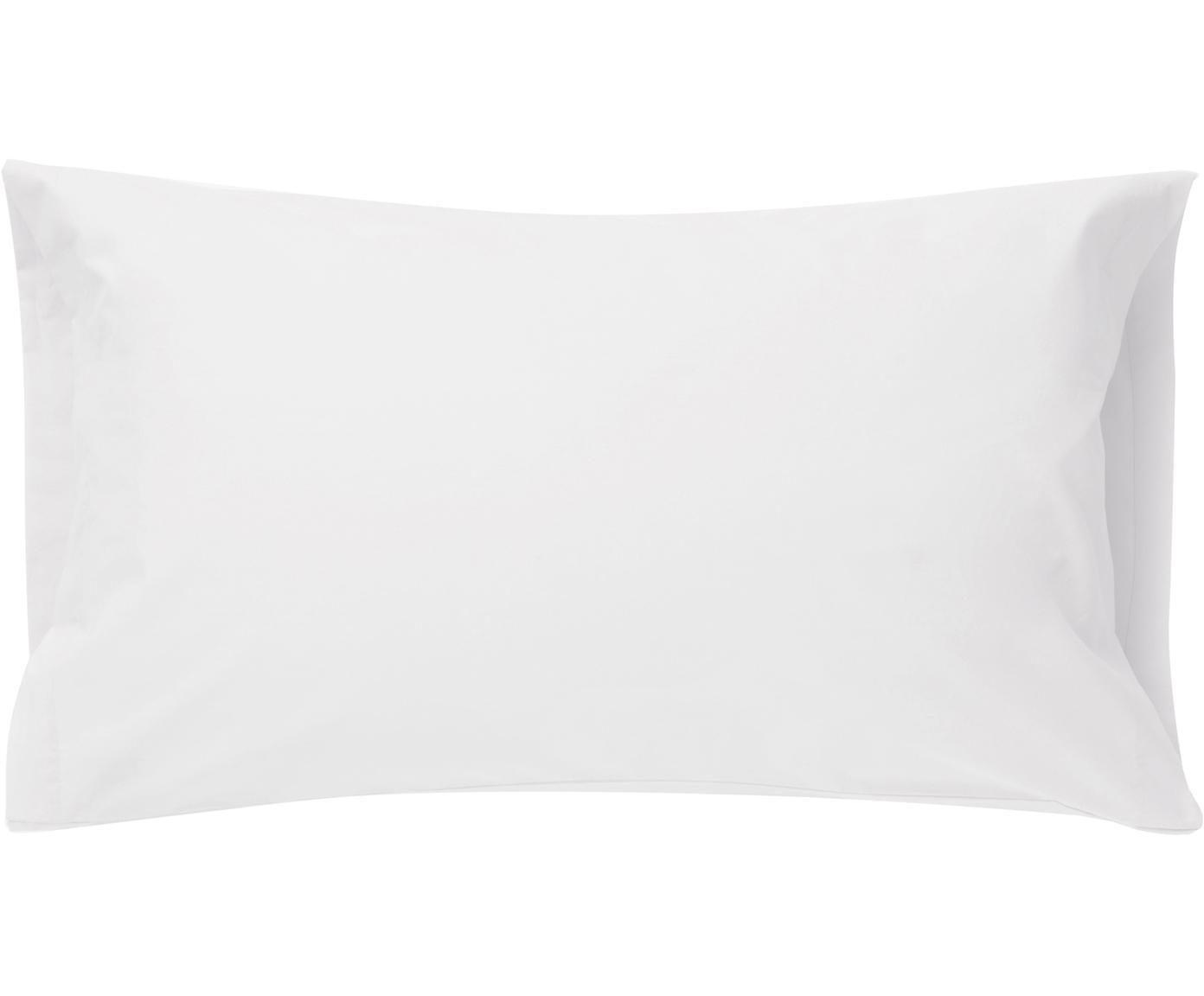 Fundas de almohada Plain Dye, 2uds., Algodón, Blanco, An 50 x L 85 cm
