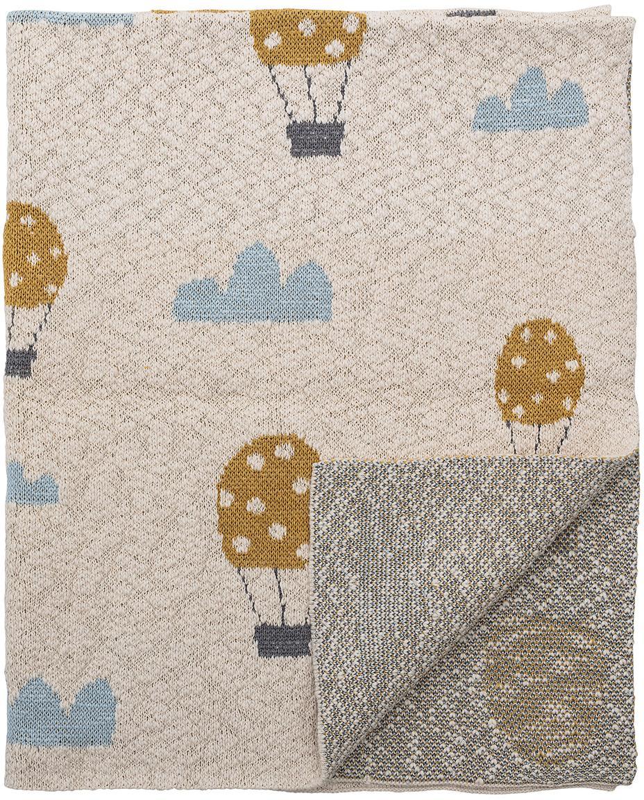 Pled Baloons, Bawełna, produkt posiada certyfikat Oeko-Tex, Beżowy, S 80 x D 100 cm