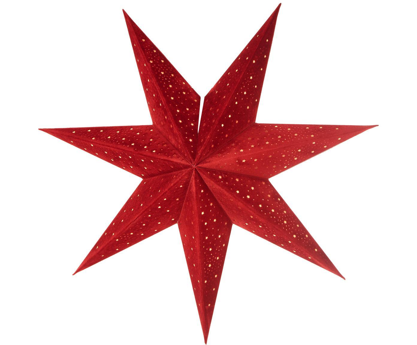 Kerstster Orby, Papier, Rood, Ø 45 cm