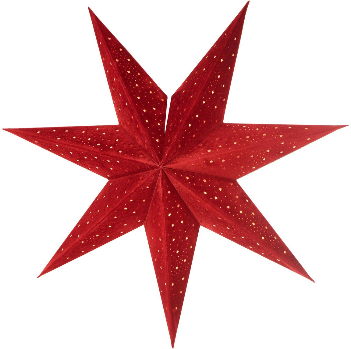Weihnachtsstern Orby, Papier, Rot, Ø 45 cm