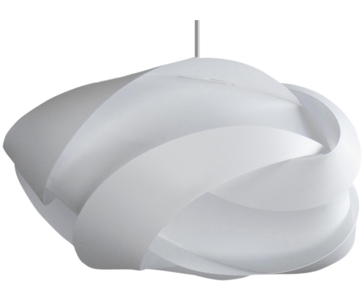Lámpara de techo Ribbon, Pantalla: polipropileno, policarbon, Anclaje: plástico, Cable: cubierto en tela, Blanco, Ø 33 x Al 19 cm
