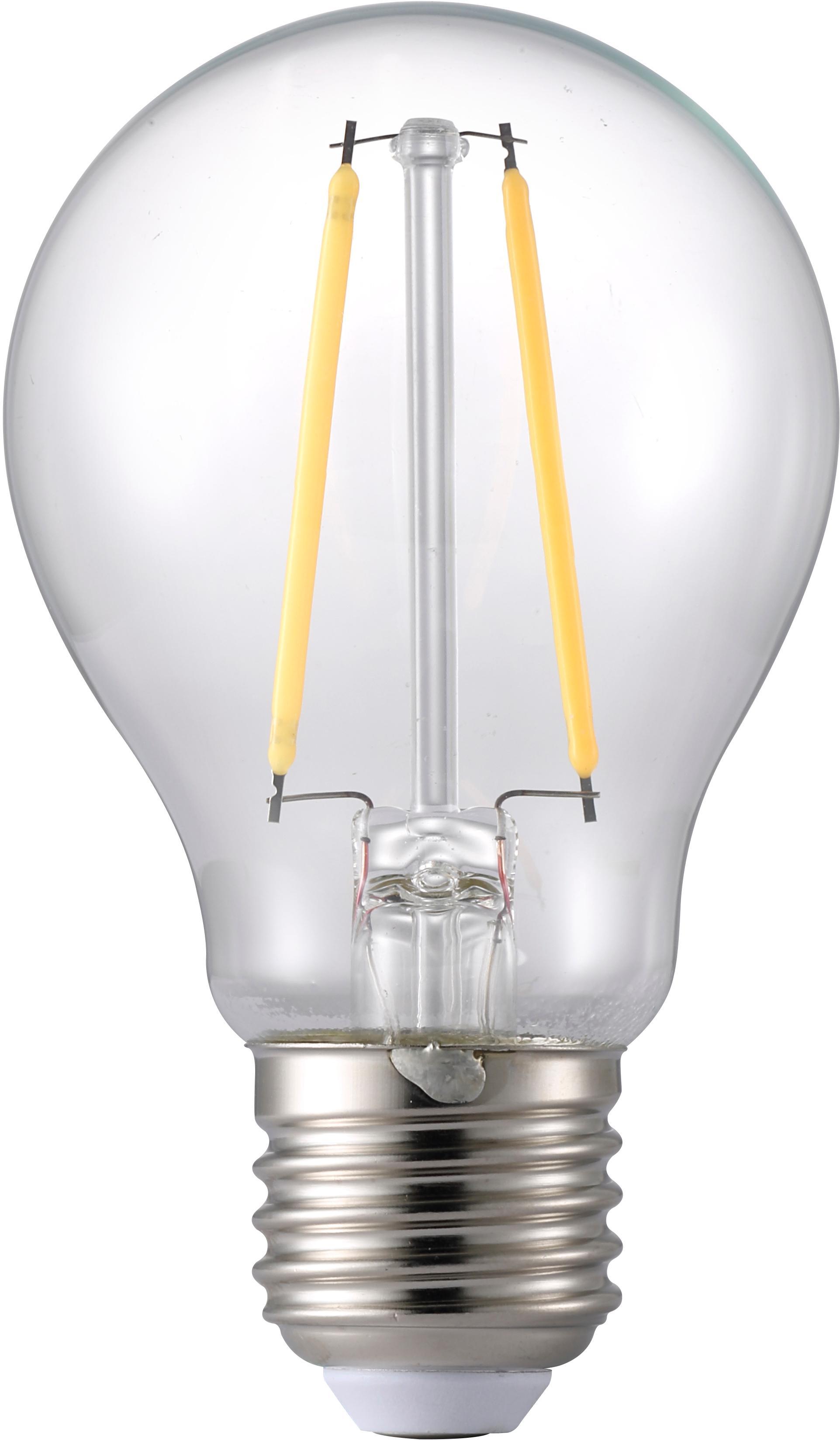 LED Leuchtmittel Humiel (E27/4.6W), Leuchtmittelschirm: Glas, Leuchtmittelfassung: Aluminium, Transparent, Ø 6 x H 10 cm